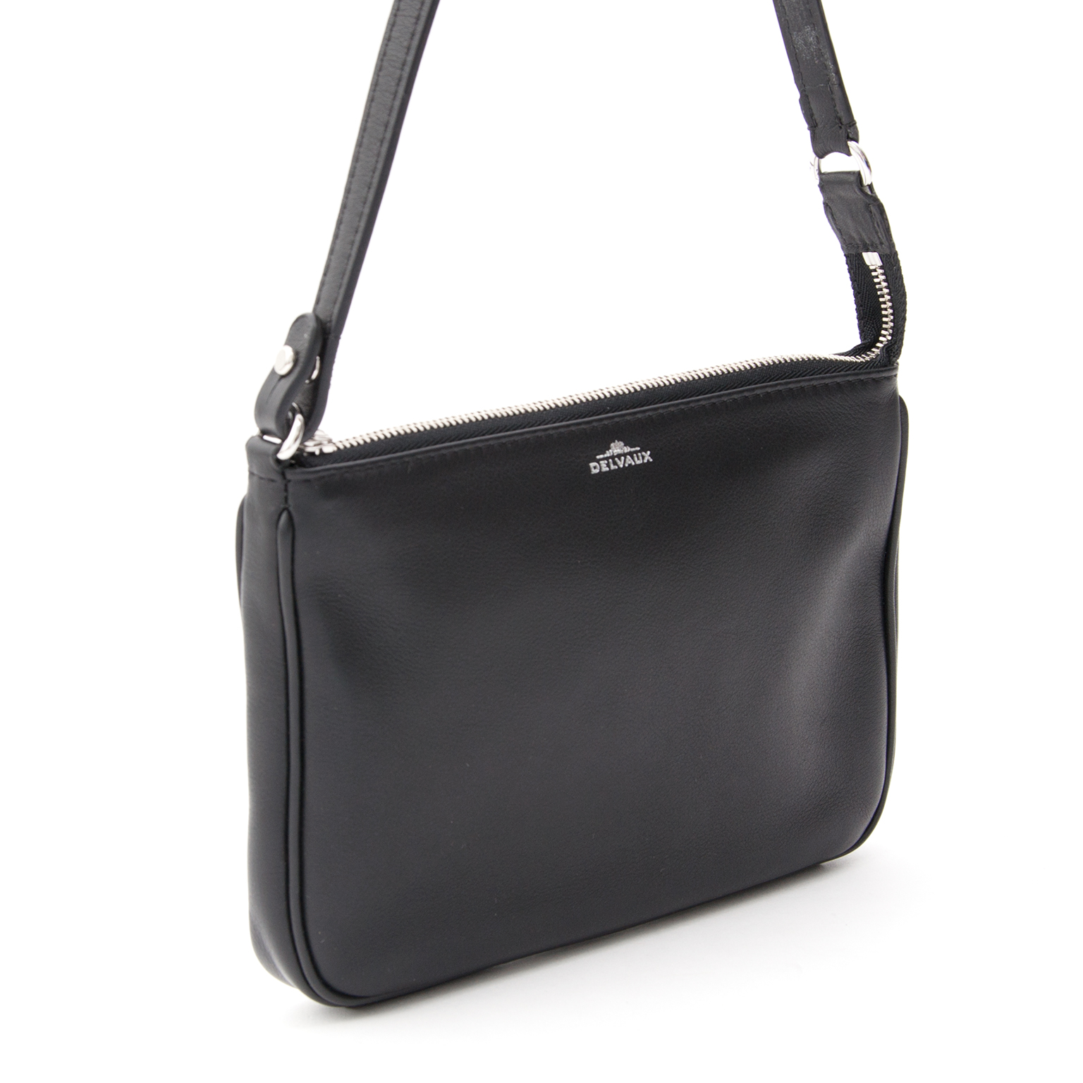 72bfe537aaec Tweedehands Delvaux Black Pochette Bag. Labellov provides a platform to buy  and sell preloved secondhand