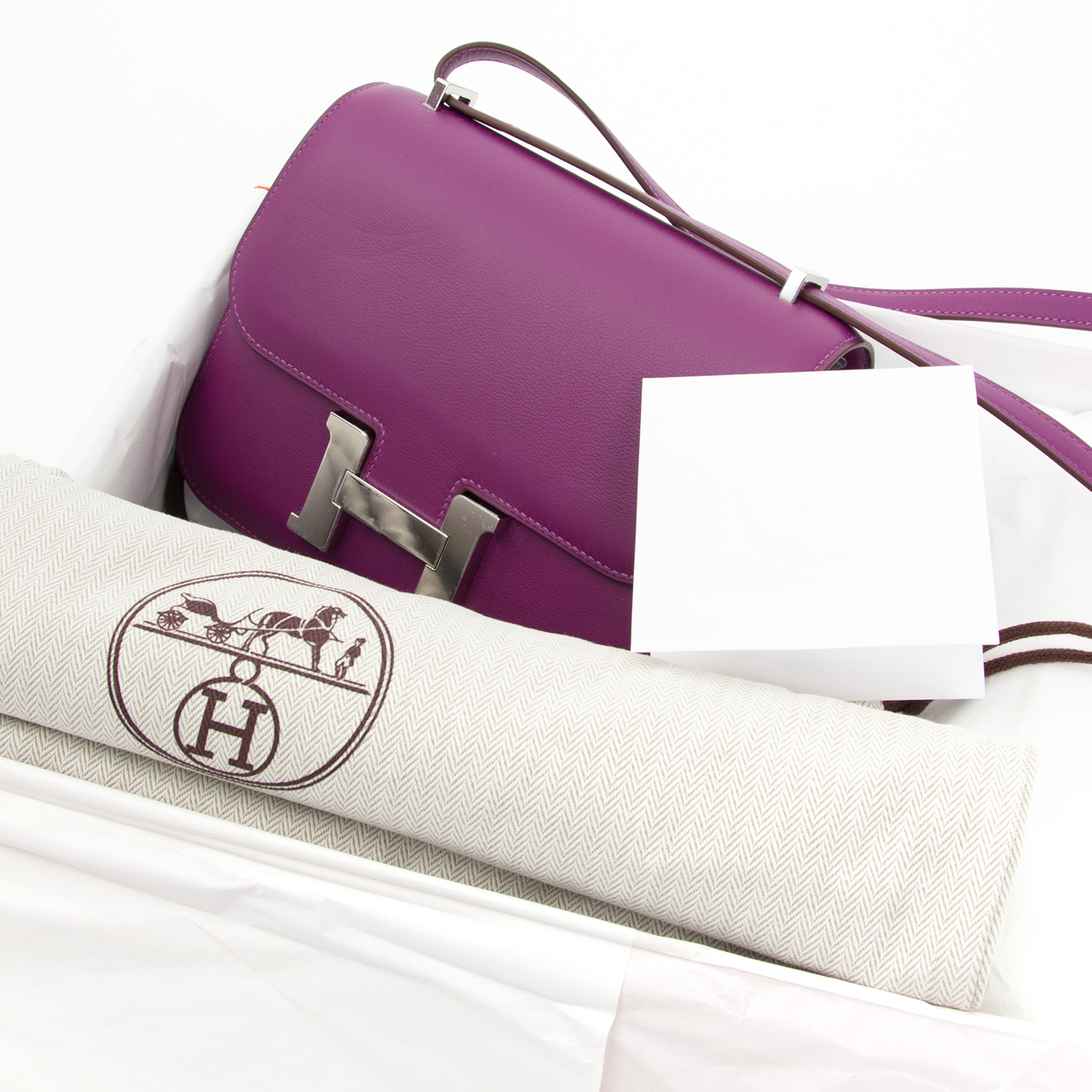 Acheter enligne seconde main sac a main Brand New Hermes Anemone Constance Mini Veau Swift PHW (