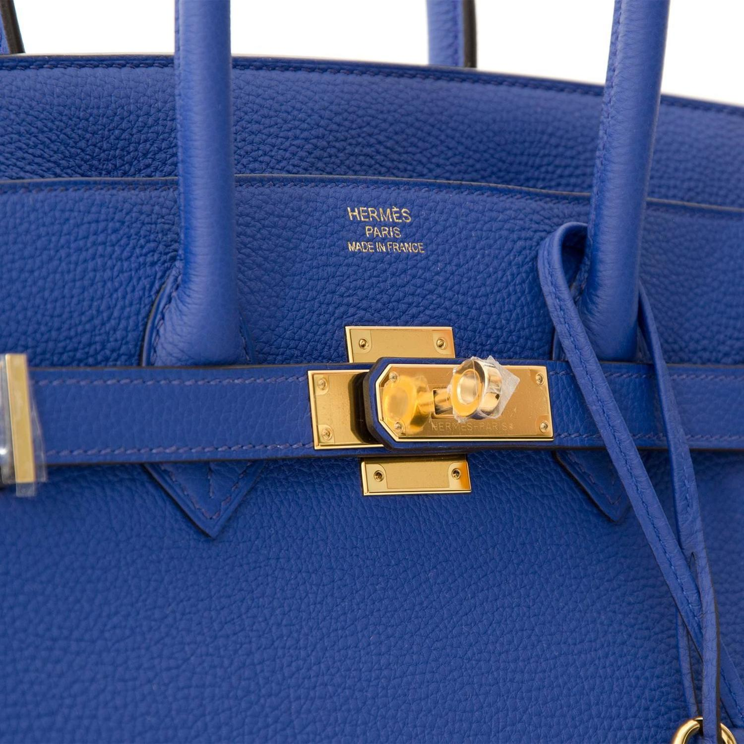 ac680cb6cf1c ... Brand New Hermès Birkin 35 Blue Electrique Togo GHW worldwide shipping  designer luxury secondhand