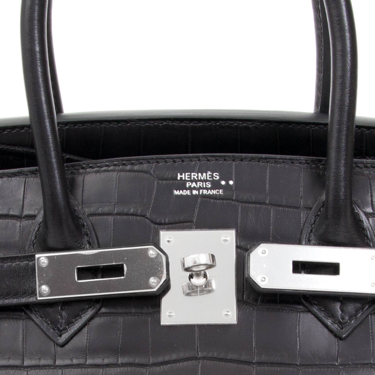 c18f089fee9d ... acheter en linge seconde main sac a main Brand New Hermes Birkin 30  Matte Crocodile Niloticus