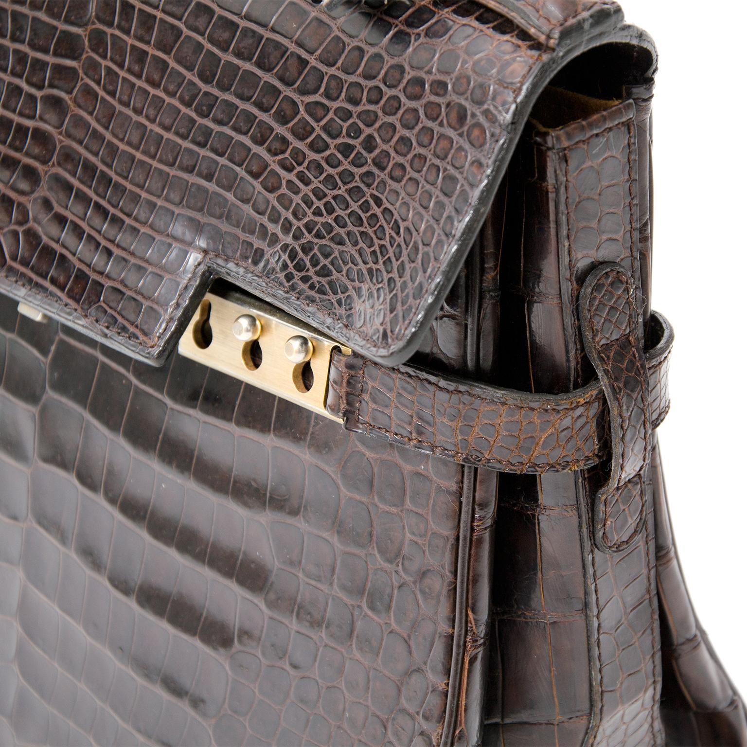 e6cd831b57270 ... shop safe online second hand designer vintage Delvaux tempete croco aan  de beste prijs online webshop