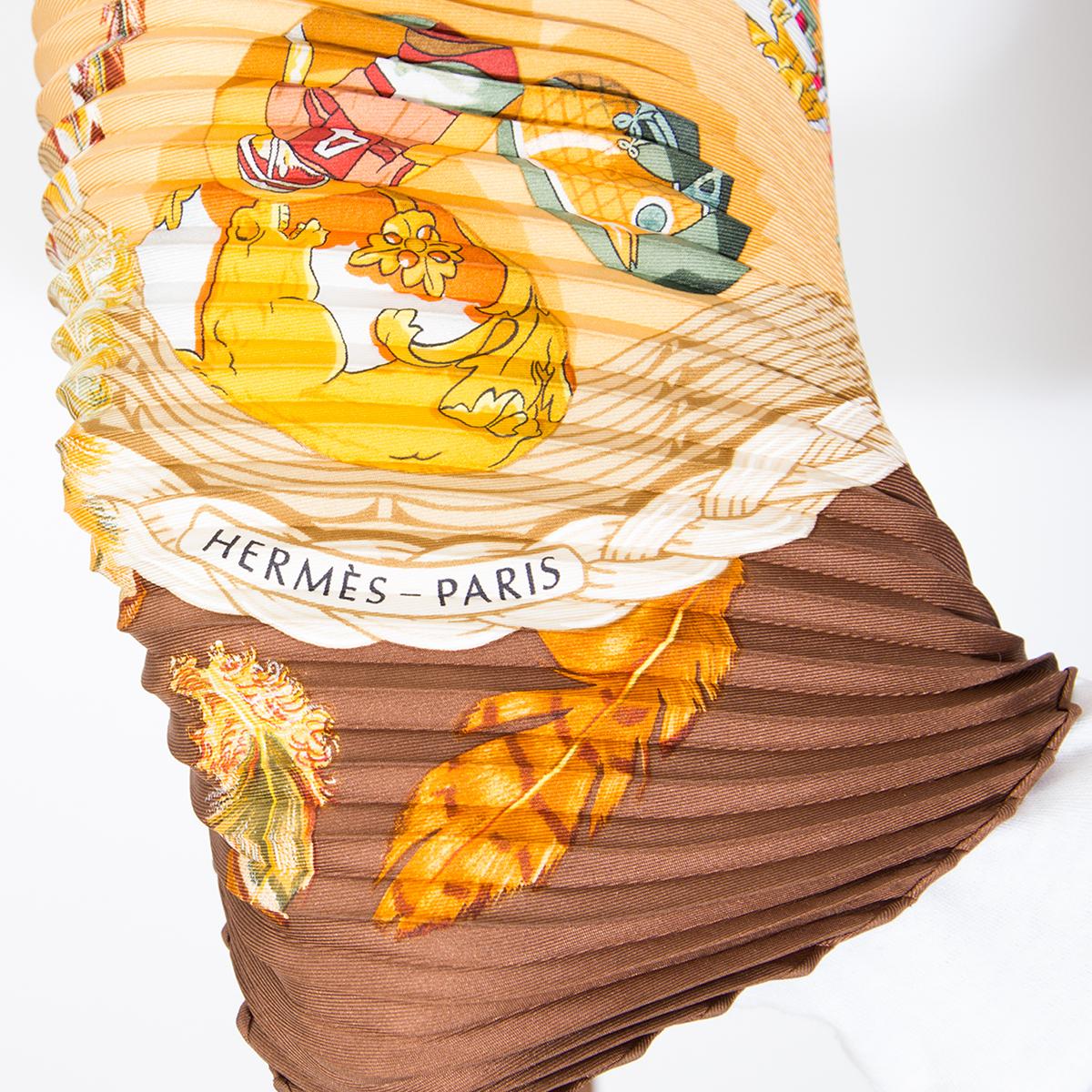 Hermes Plissé Latham Scarf LabelLOV authentieke tweedehands sjaals designer merken