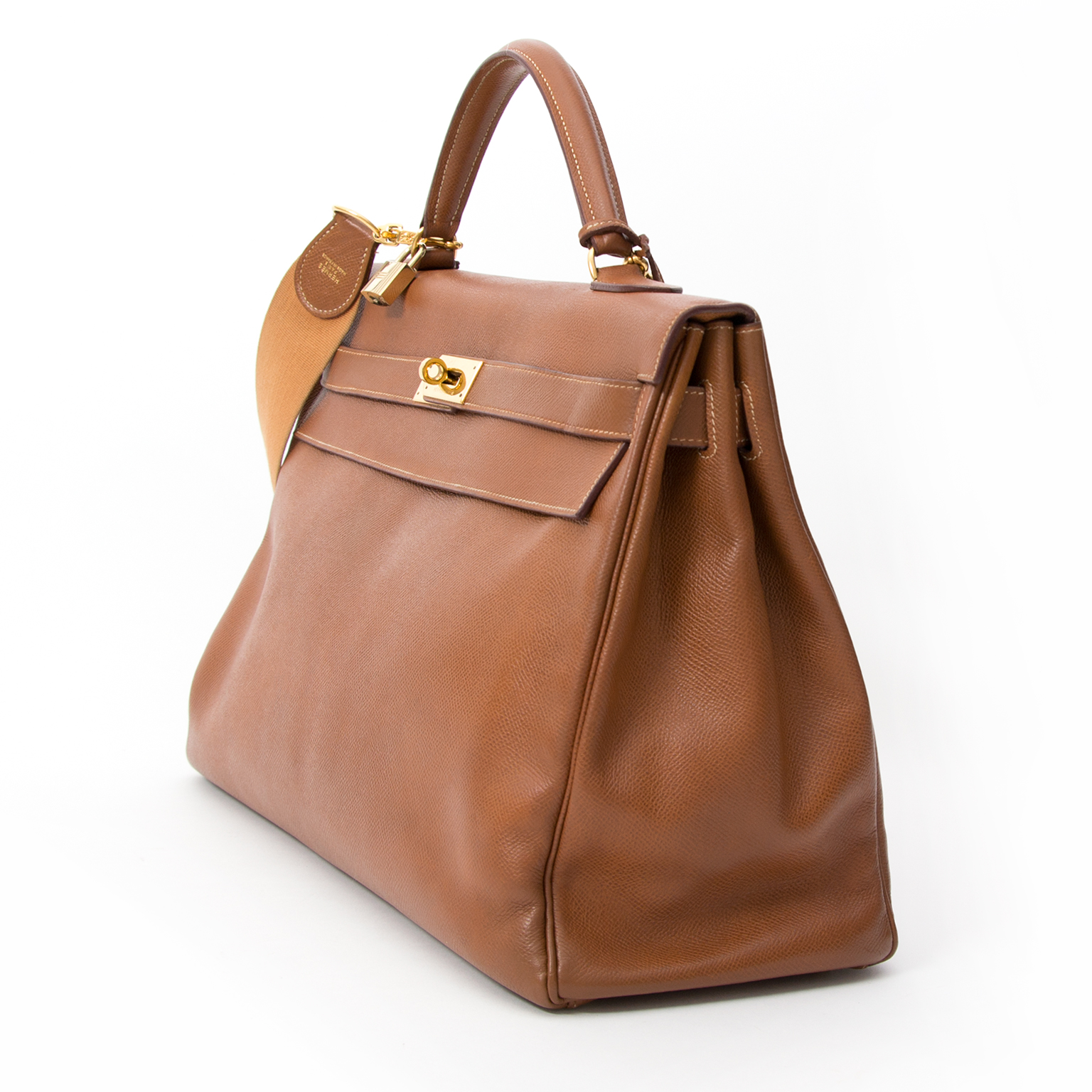 e-shop labellov online tweedehands vintage designer luxe Hermes Kelly gold color