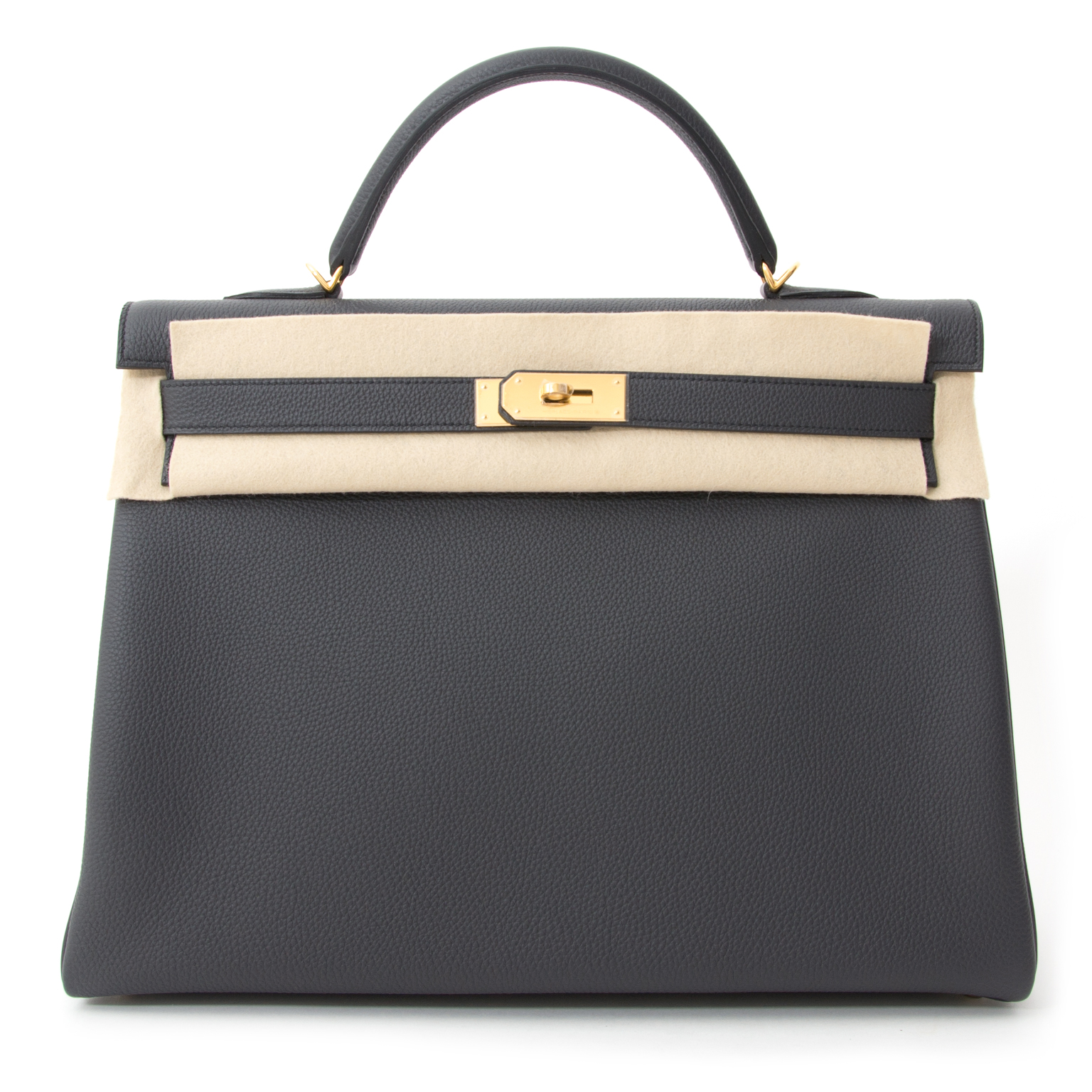 koop veilig online aan de beste prijs Brand New Hermes Kelly Togo Plombe 40