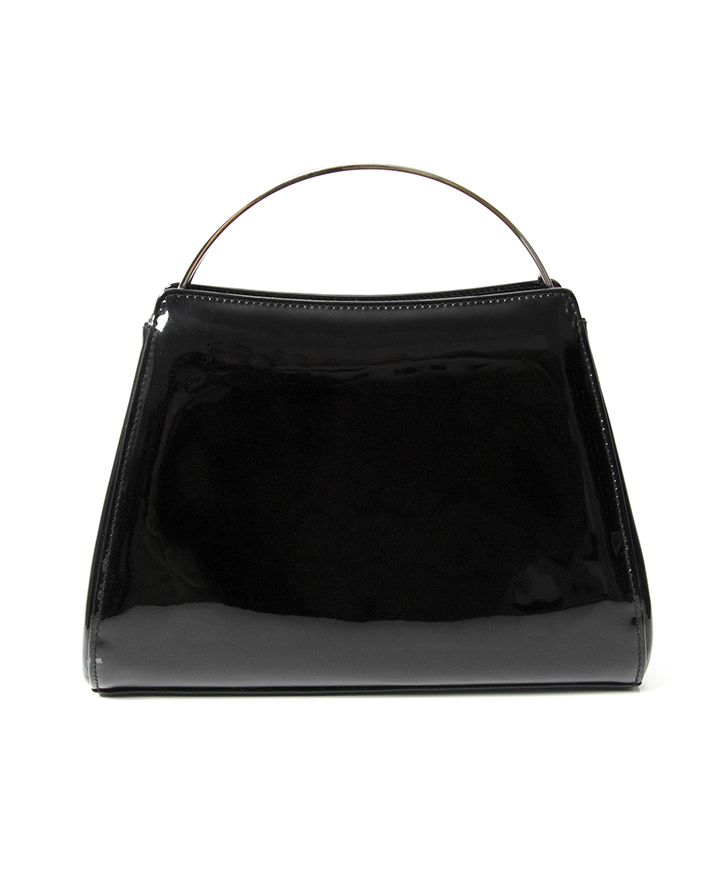 04a4818f09be90 Chanel Patent Black Evening Purse A clutch or evening handbag in patent  black leather. Authentic Chanel. Comes with certificate