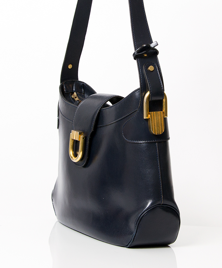 d62aefe458b Delvaux Dark Blue Shoulder Bag buy safe second hand designer Delvaux  shoulder bag for the best price 100% real,