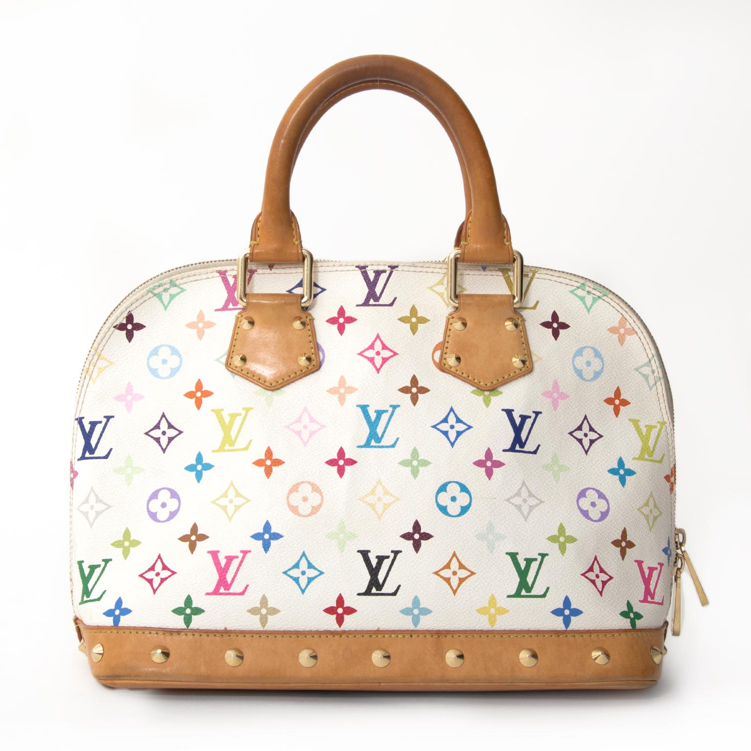 084f21f7cb4e ... Louis Vuitton Murakami Multicolore Monogram White Alma shop buy sell  resell