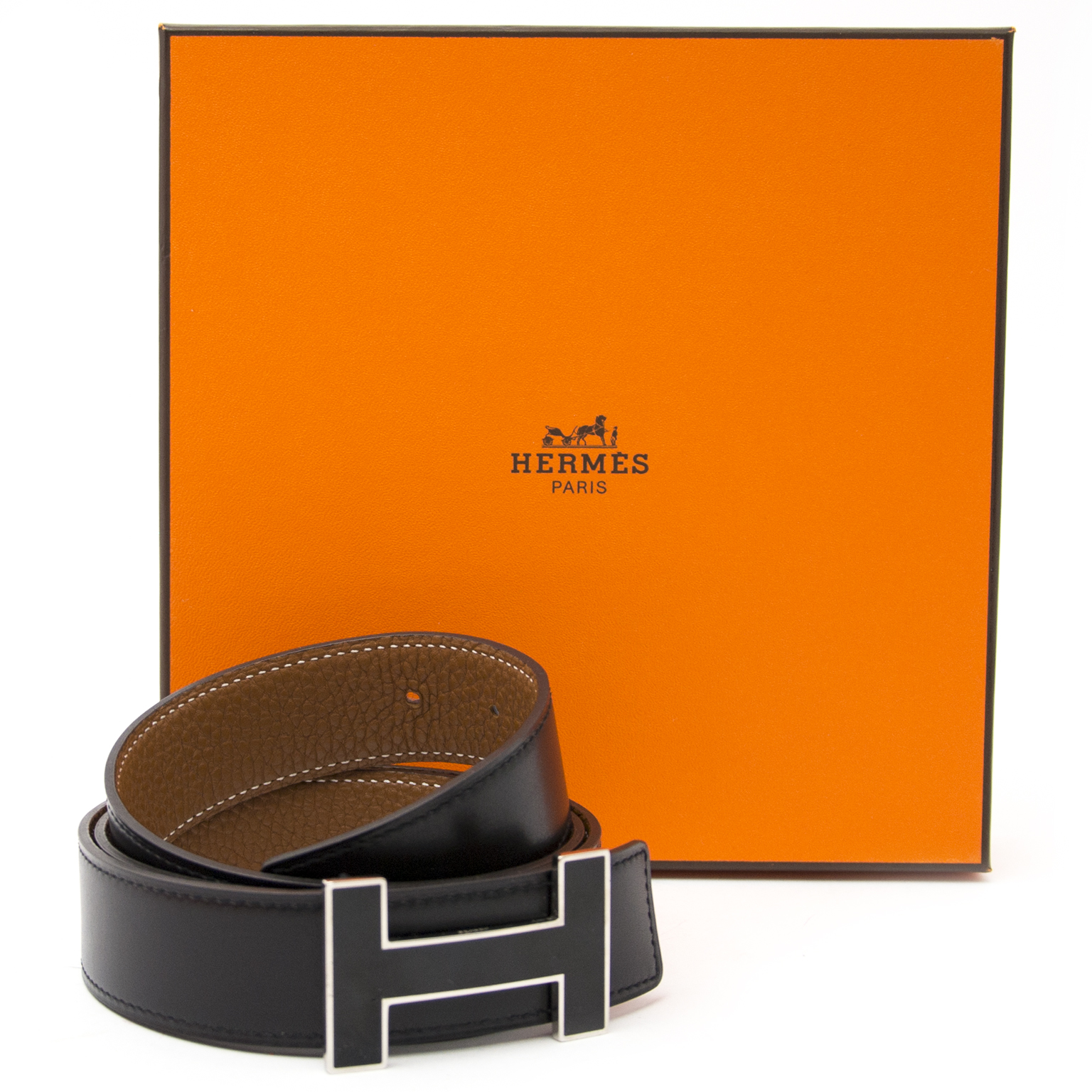 7901f81d7dbc Safe and secure online Vintage Hermes black H belt for the best price at  Labellov webshop. Safe and secure