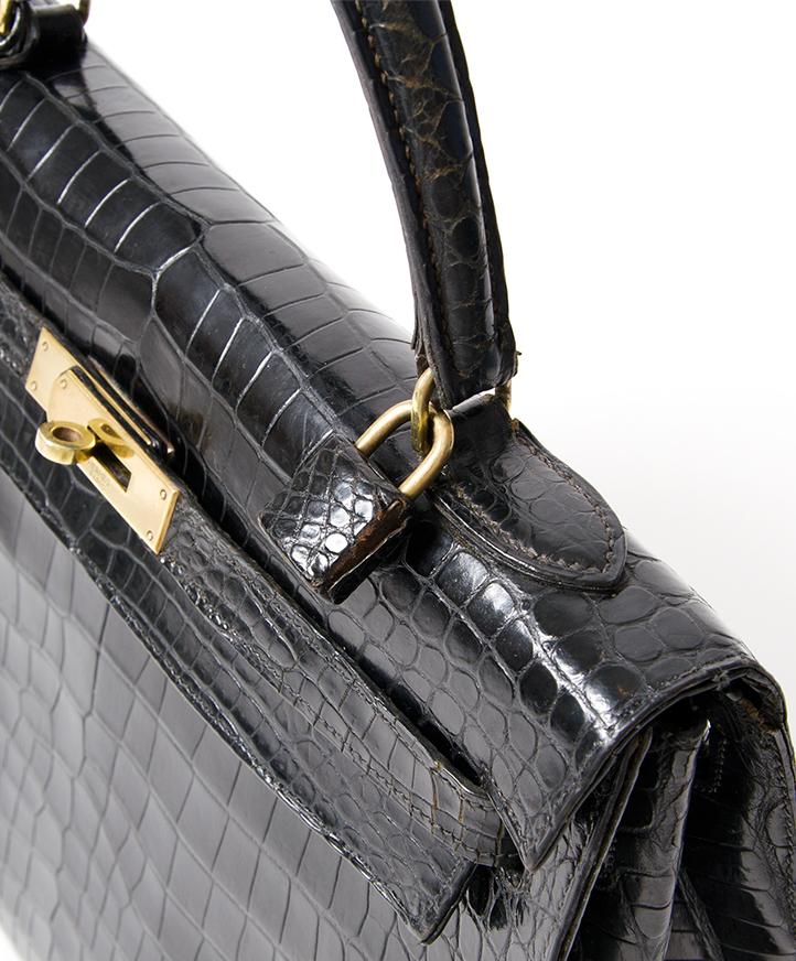 acheter 100% authentic Hermes kelly croco pour le meilleur prix site enligne labellov