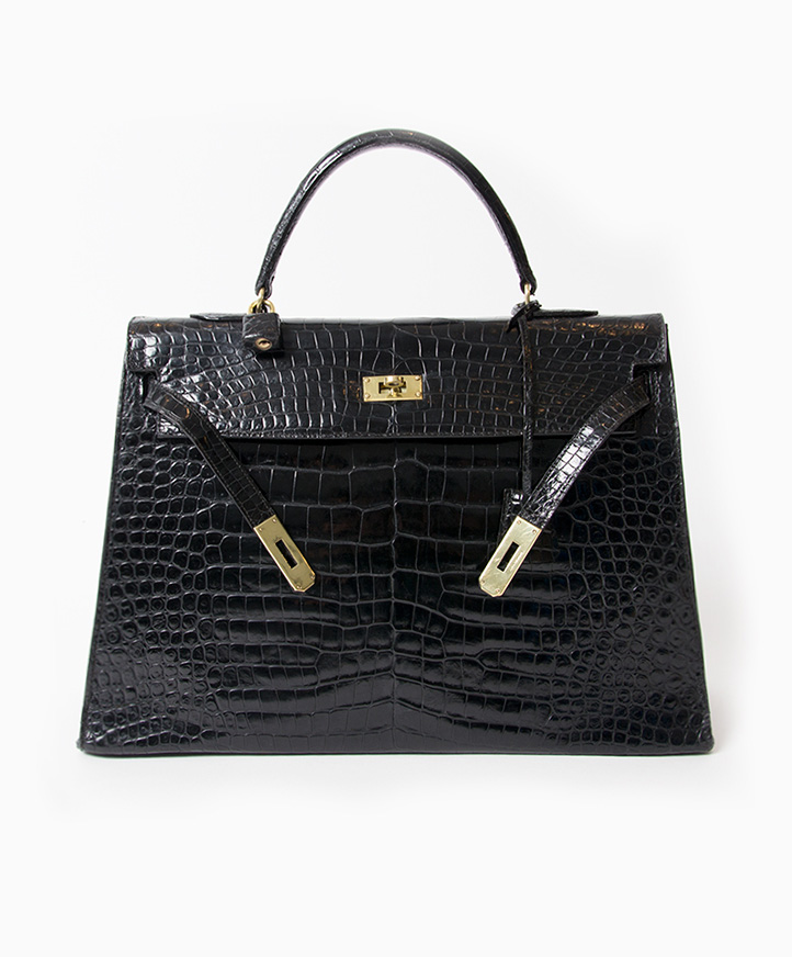 0436c065110581 Hermès Kelly Bag Croco Prosorus 35 Hermes Black Kelly 35 cm Croco Prosorus  bag. acheter en ligne pour le meilleur prix