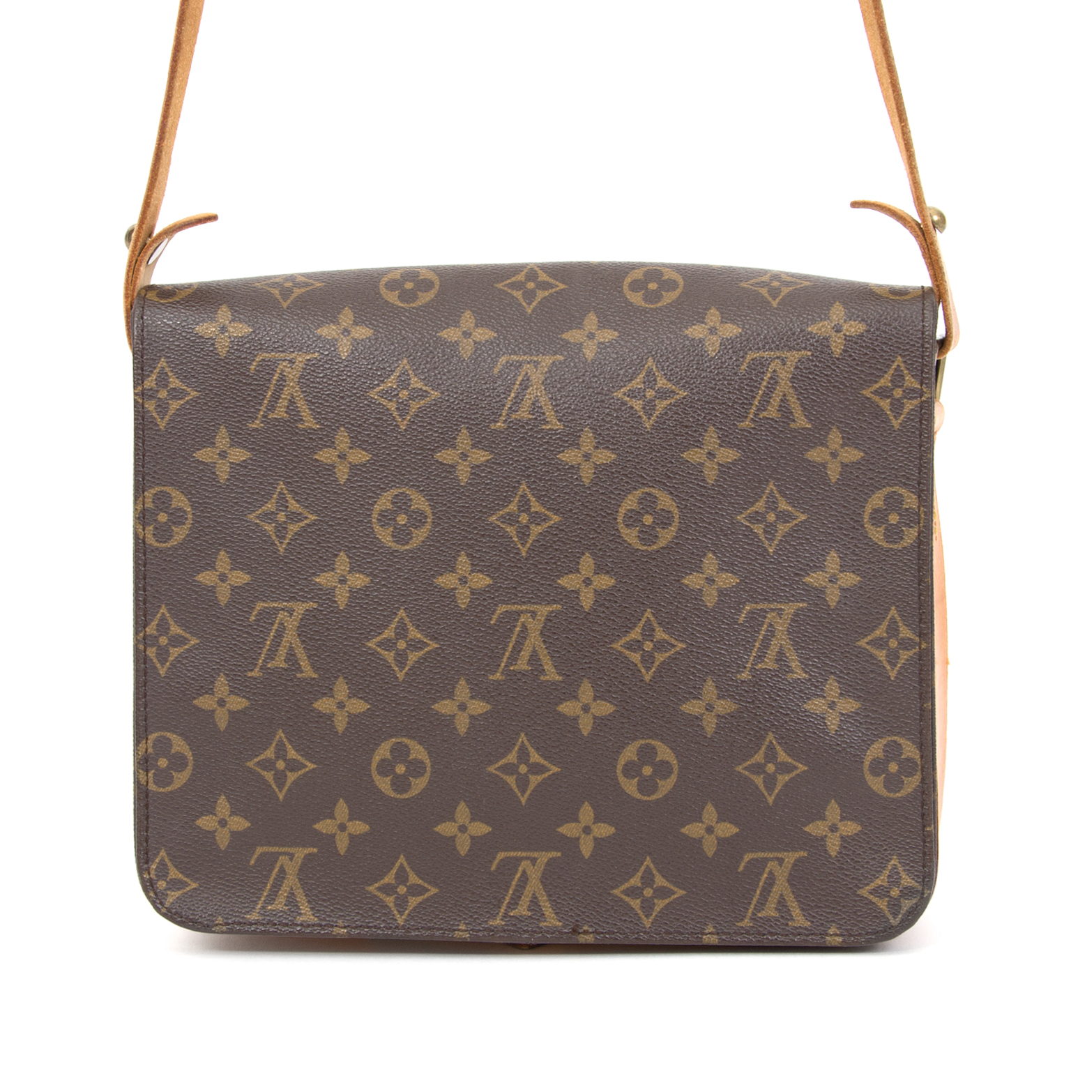 9dff068cec9e ... Louis Vuitton Cartouchière Monogram Canvas Shoulder Bag buy sell resell  online webshop international shipping