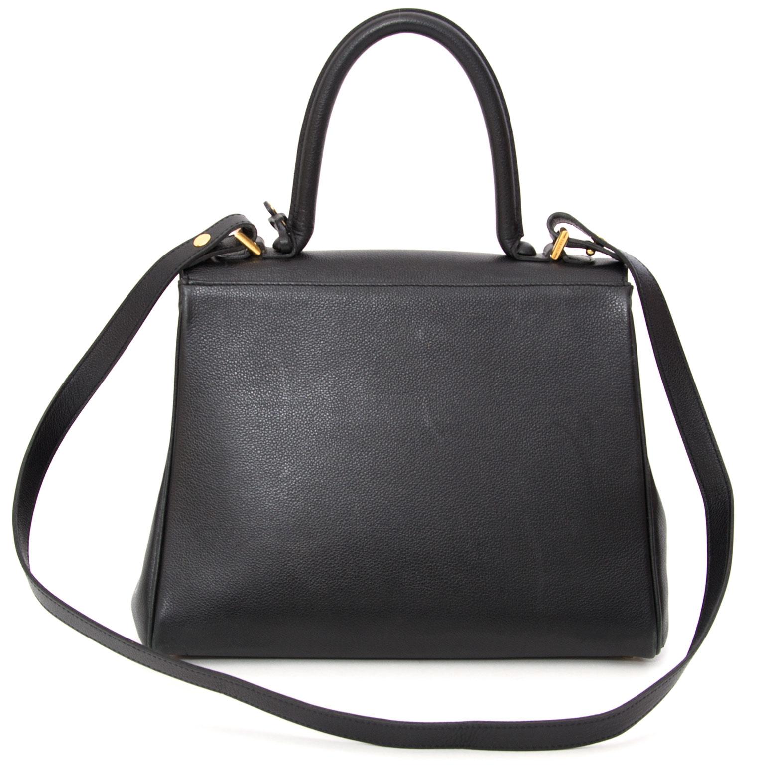 Delvaux Black Brillant MM + STRAP achetez en ligne online vintage seconde main delvaux