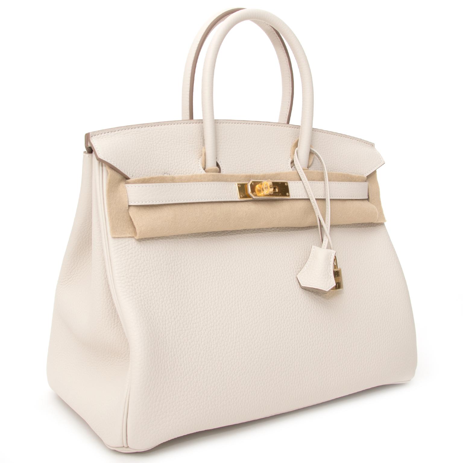 4560f59ddfd ... shop brand new 100% authentic Hermes Birkin 35 Craie White Clemence  Taurillon GHW worldwide