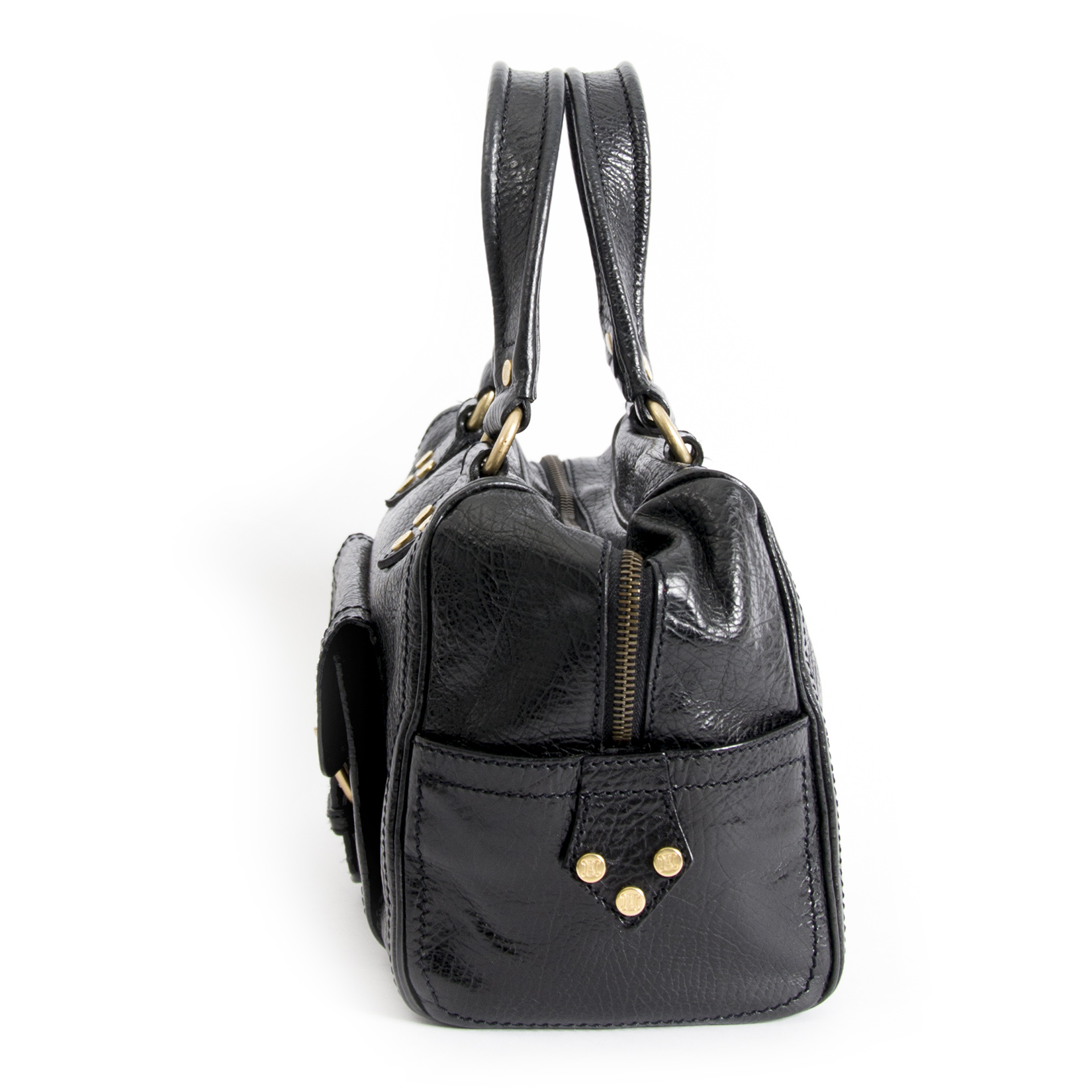 shop safe online your Céline Black Leather Handbag