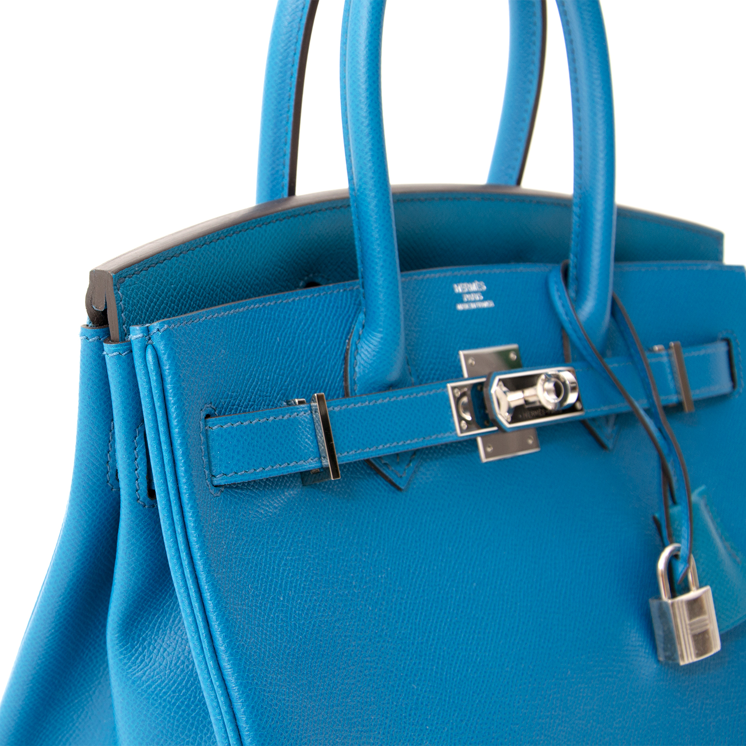 Buy authentic secondhand Hermès bags Hermès Birkin 30cm Epsom Blue Izmir  koop veilig online tweedehands 833d37a9c3cd2