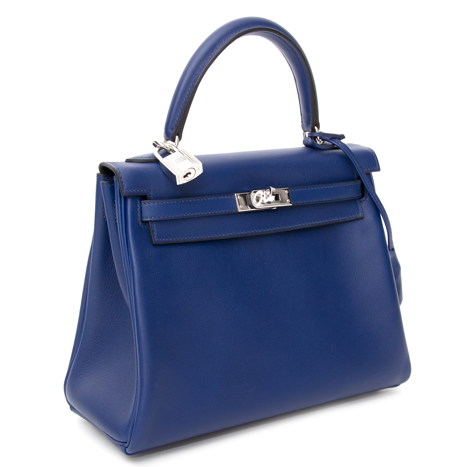 shop safe online secondhand Brand New Hermes Kelly 25 Blue Saphire PHW Veau Swift