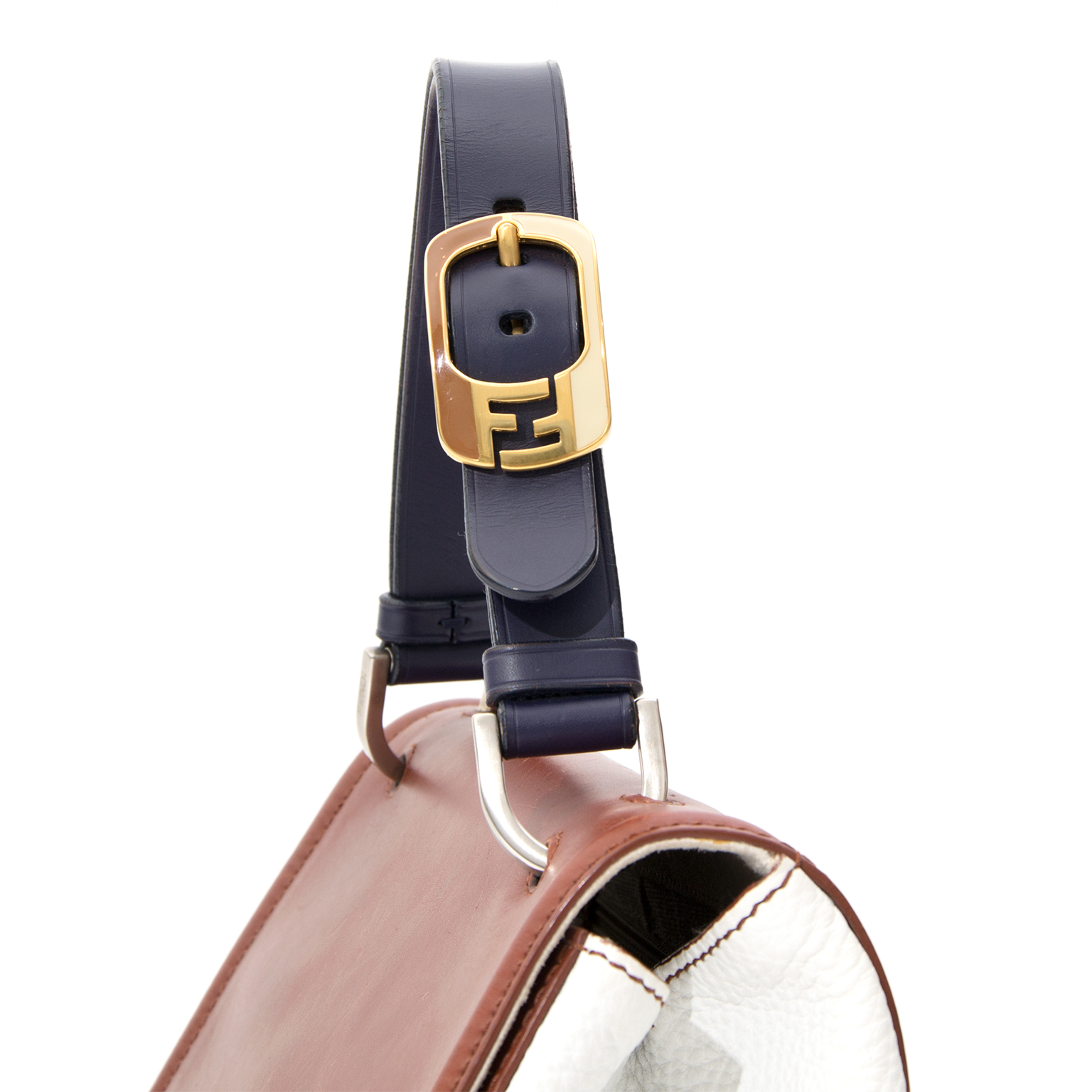 Labellov provides a platform to buy and This Fendi purse is a structured  top handle handbag in tri-color-block, cde04b29a7