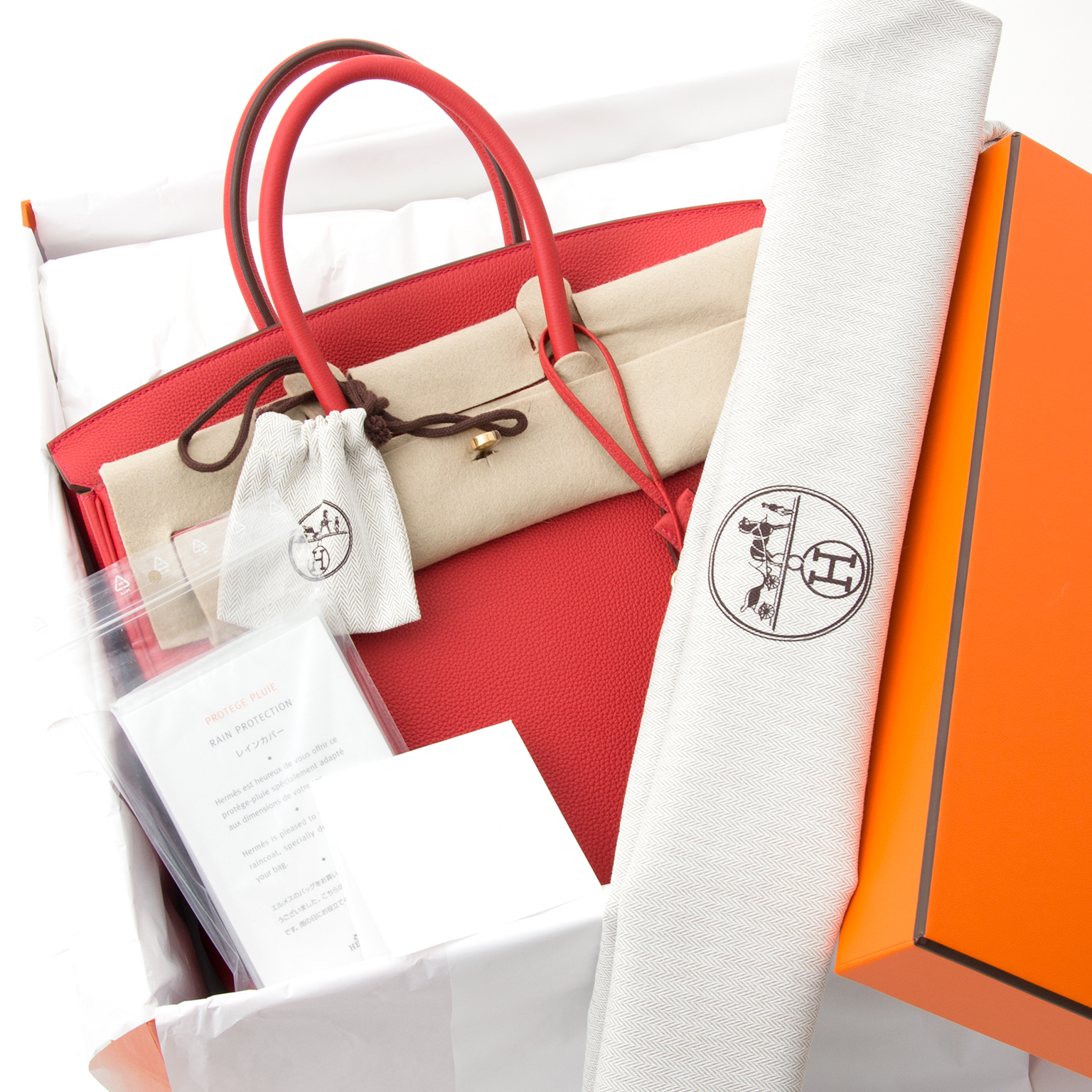 ... koop veilig online tweedehands Brand New Hermes Birkin 35 Togo Geranium  GHW 1ad68b598b42e