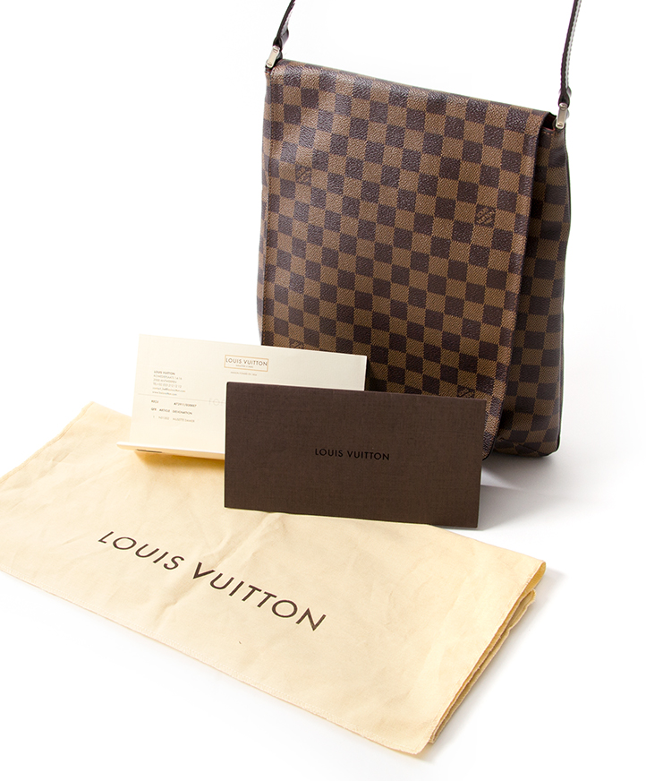 ... Louis Vuitton Musette Damier Bag authentique seconde main en ligne  shopping webshop Anvers Belgique LabelLOV mode 0db5d1a143a89