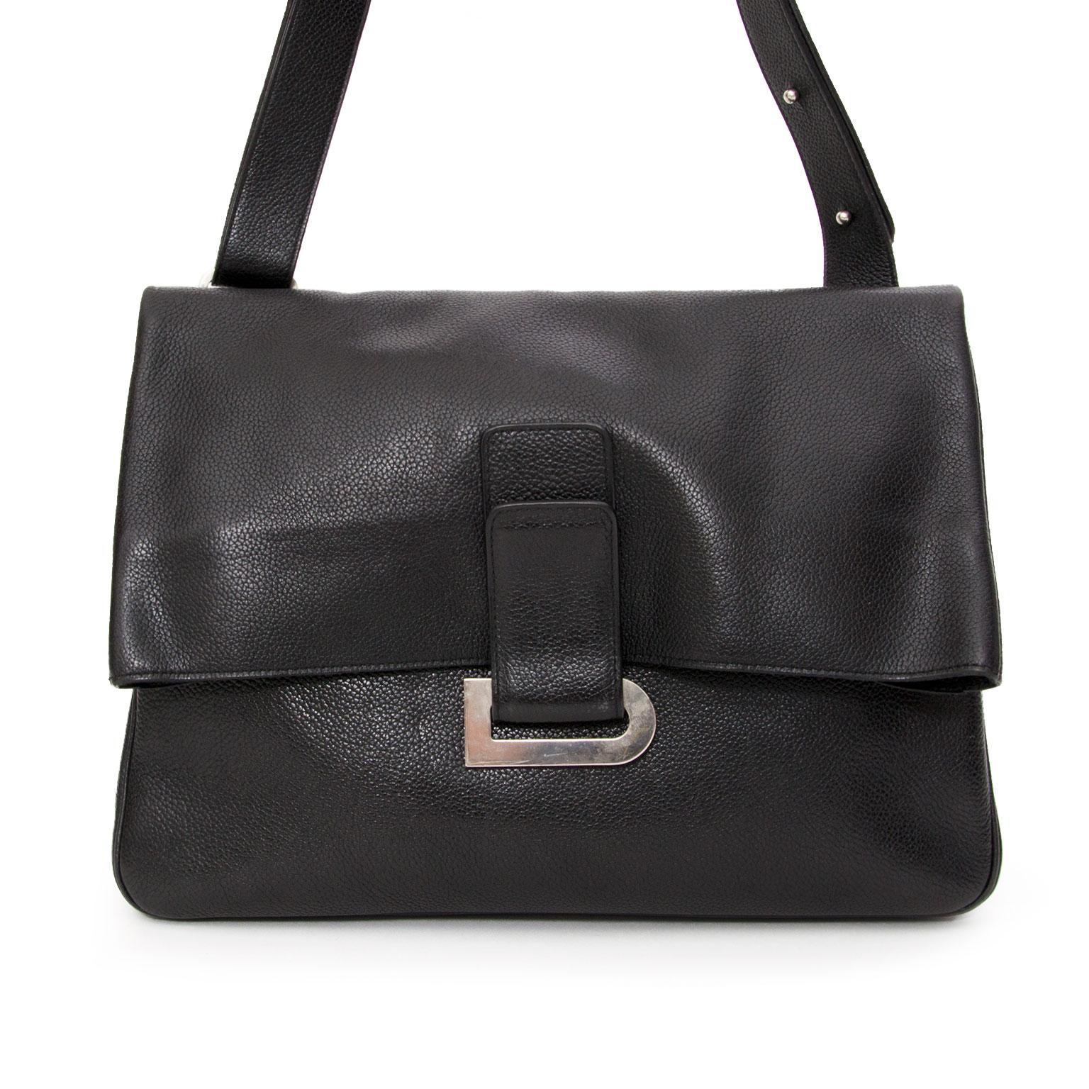a1f1fe147319 ... buy safe online second hand designer seconde main Delvaux Gm Black  Passerelle (
