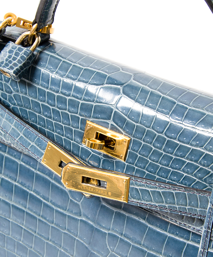 rare Hermes blue jean crocodile 32 like new worldwide shipping webshop luxury vintage labellov