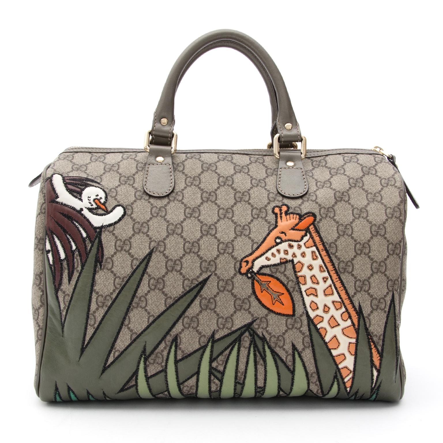 fd0fc606058 ... Gucci Unicef Snowman In Africa Medium Joy Boston Bag Joy Boston Bag  site en ligne sac