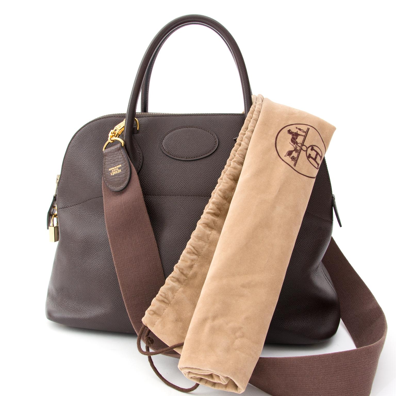 a561b8a1d3b03 ... Hermès Bolide 35 Cafe Brown Courchevel Authentieke tweedehands handtas  beste prijs online winkelen LabelLOV webshop luxe