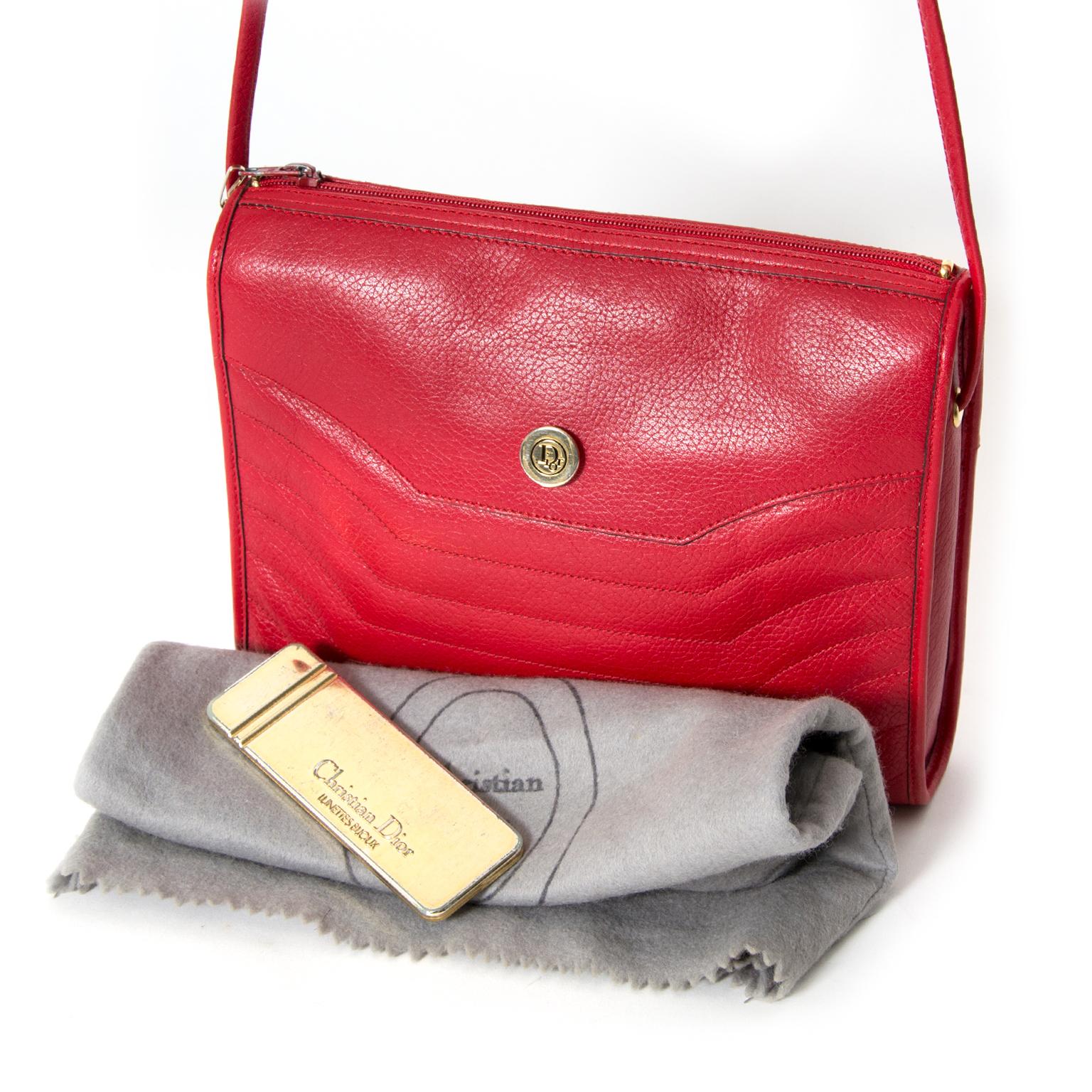 shop safe online secondhand Christian Dior Red Shoulder Bag like new worldwide shipping