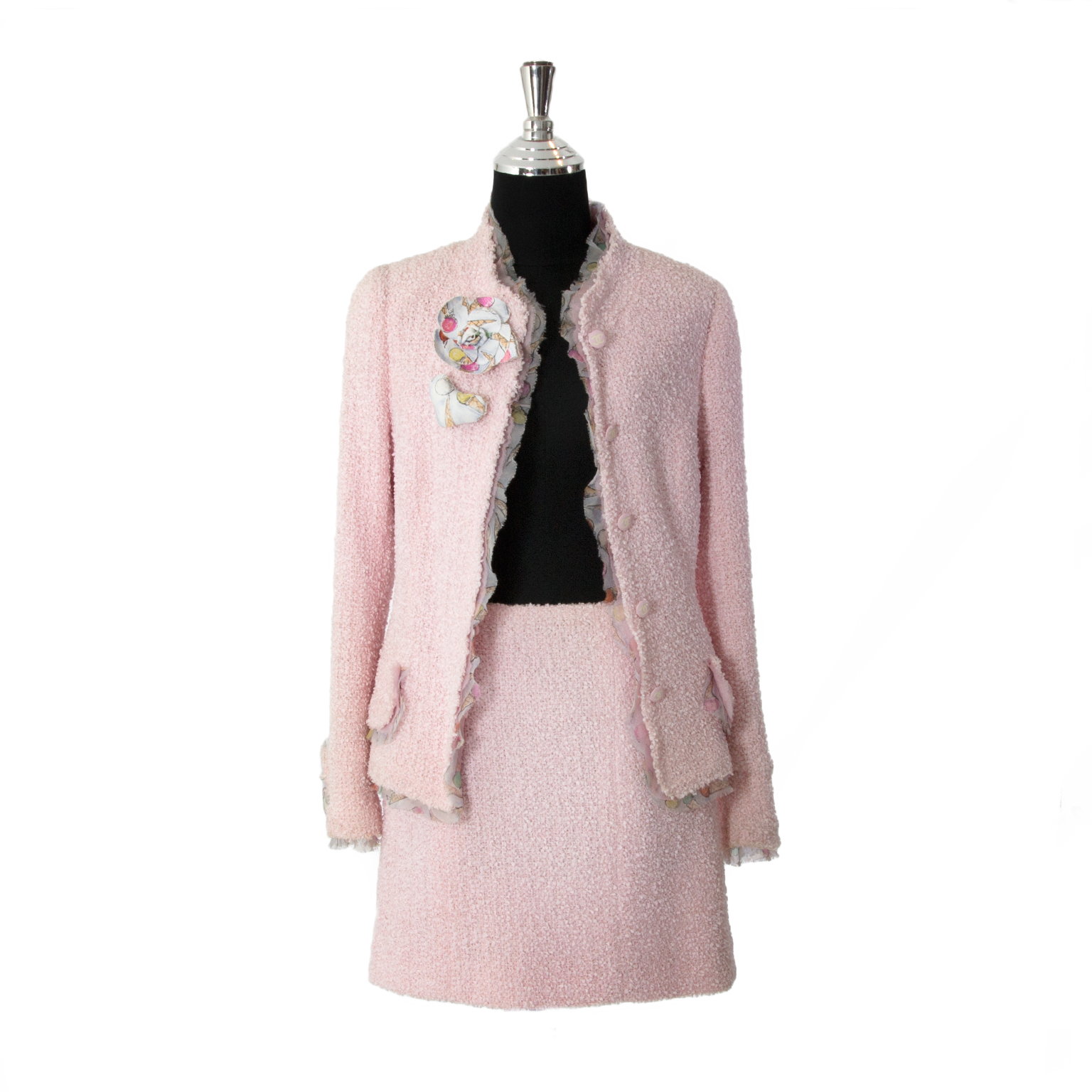 40817fd668d3 ... Chanel Pink Two-Piece Skirt Suit, Buy it on Labellov, an online platform