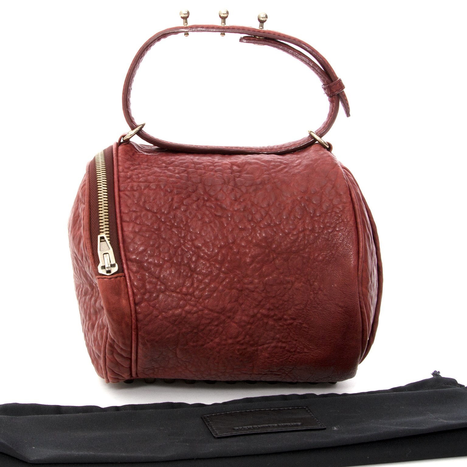 Alexander Wang Angela Pouchette Burgundy Buy authentic secondhand Delvaux bags at the right price at LabelLOV vintage webshop.