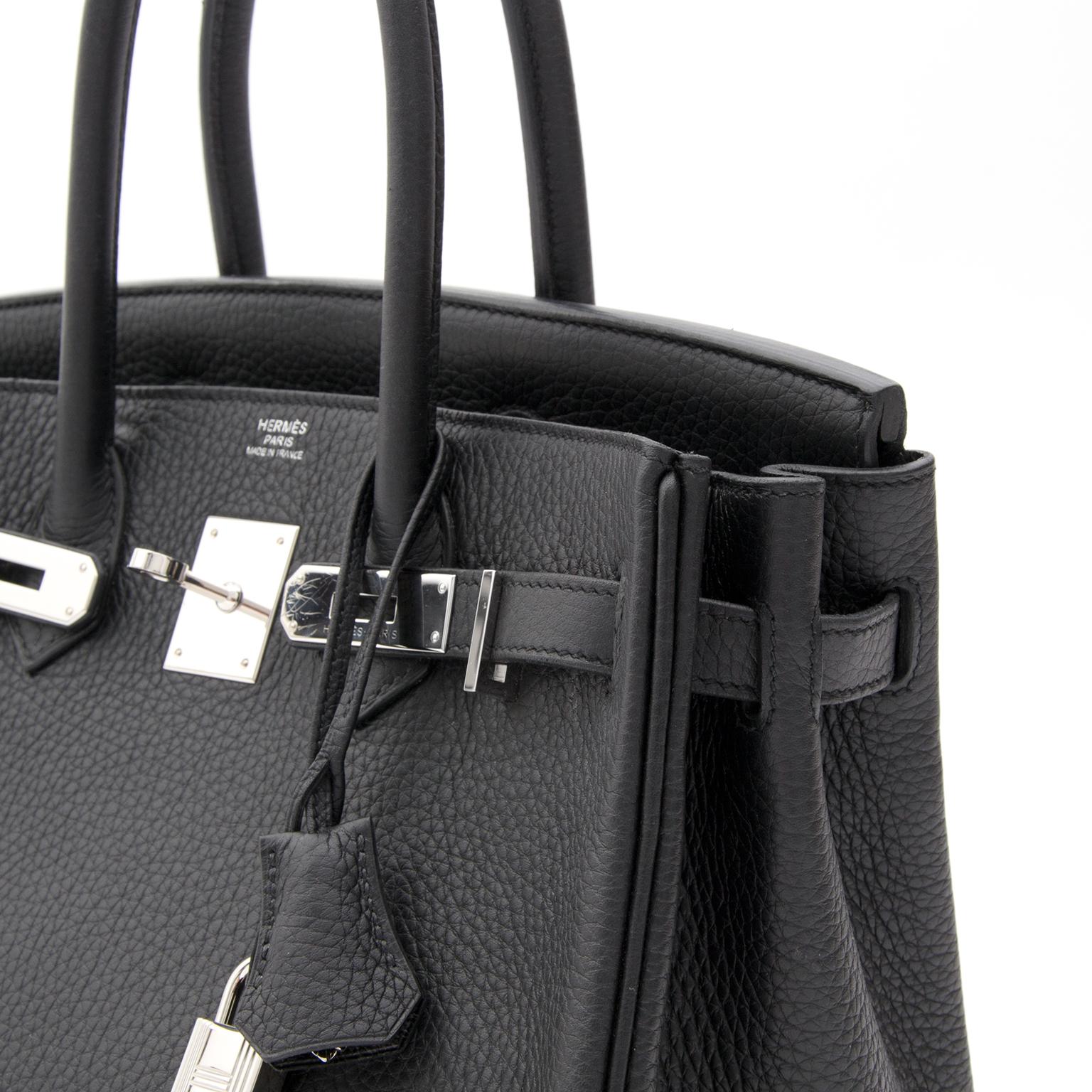 c1d9023d9e ... BRAND NEW Hermès Birkin 30 Black Togo PHW seconde hand online right  price labellov