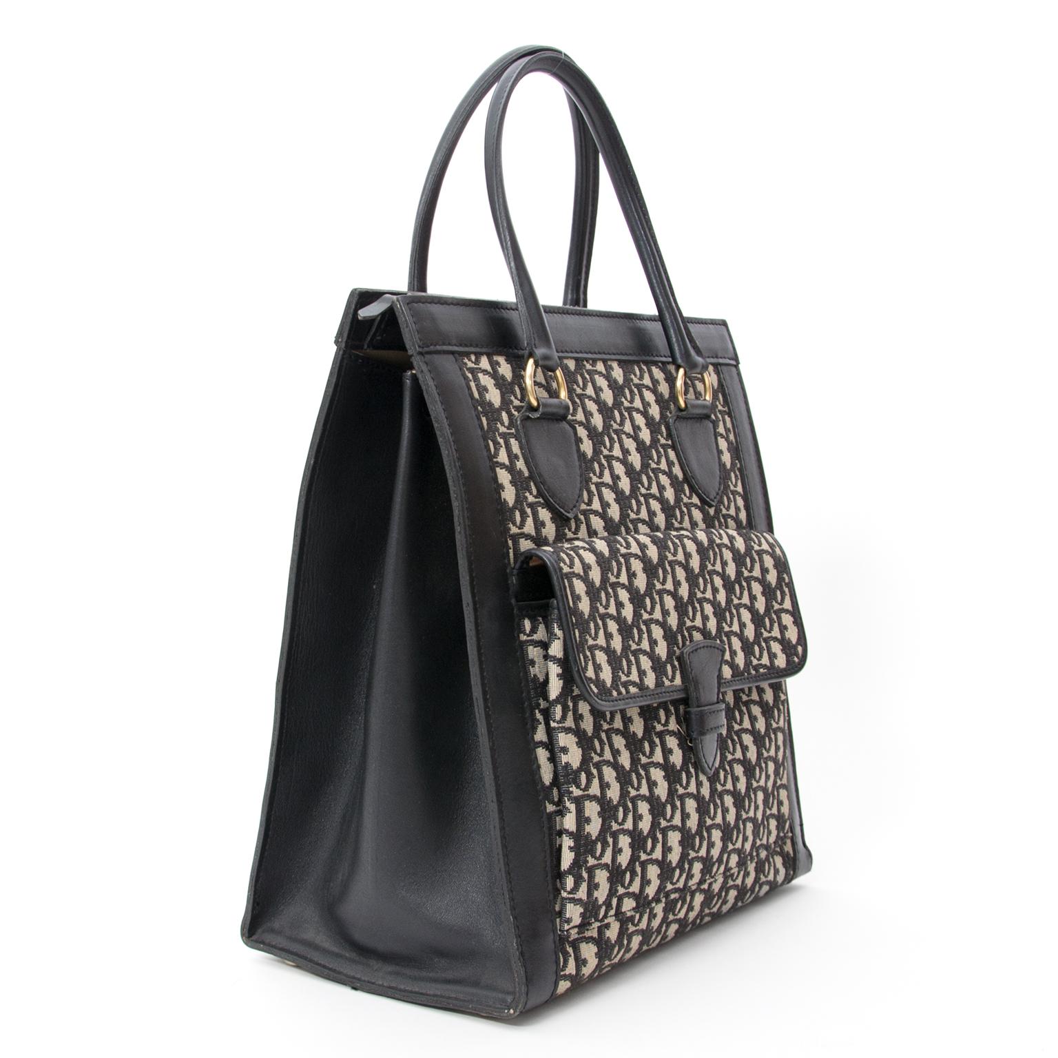 f7793639bbd ... Authentic vintage black tote safe and secure online shoppen LabelLov  veilig vintage merken · Dior