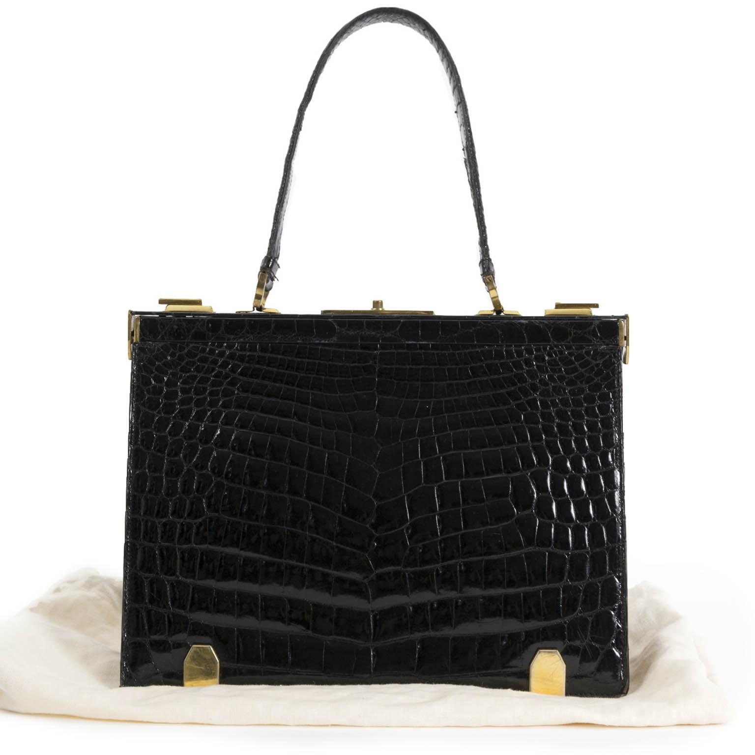 Delvaux 'Mon Grand Bonheur' Croco Top Handle Bag for sale online