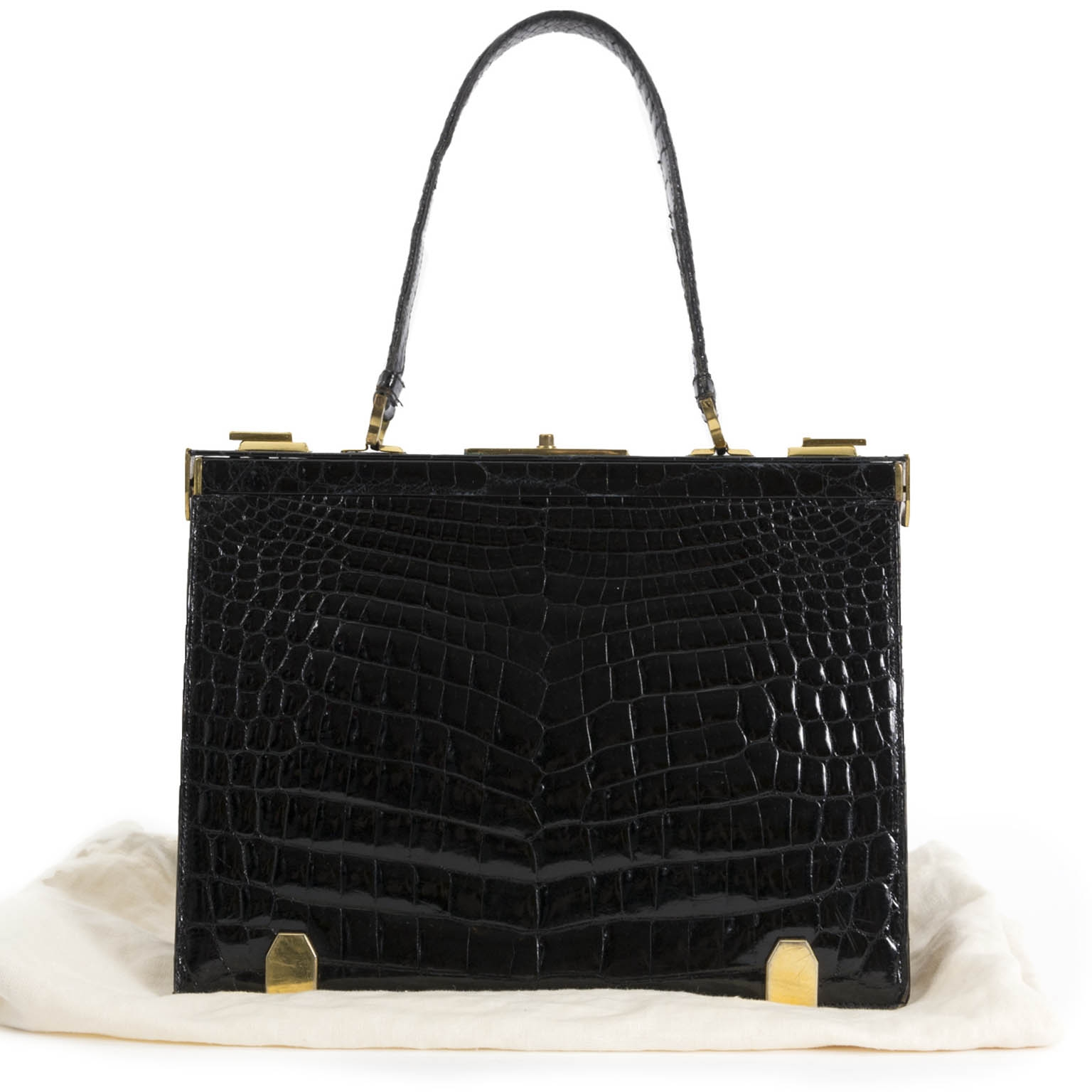 Delvaux 'Mon Grand Bonheur' Croco Top Handle Bag for sale online