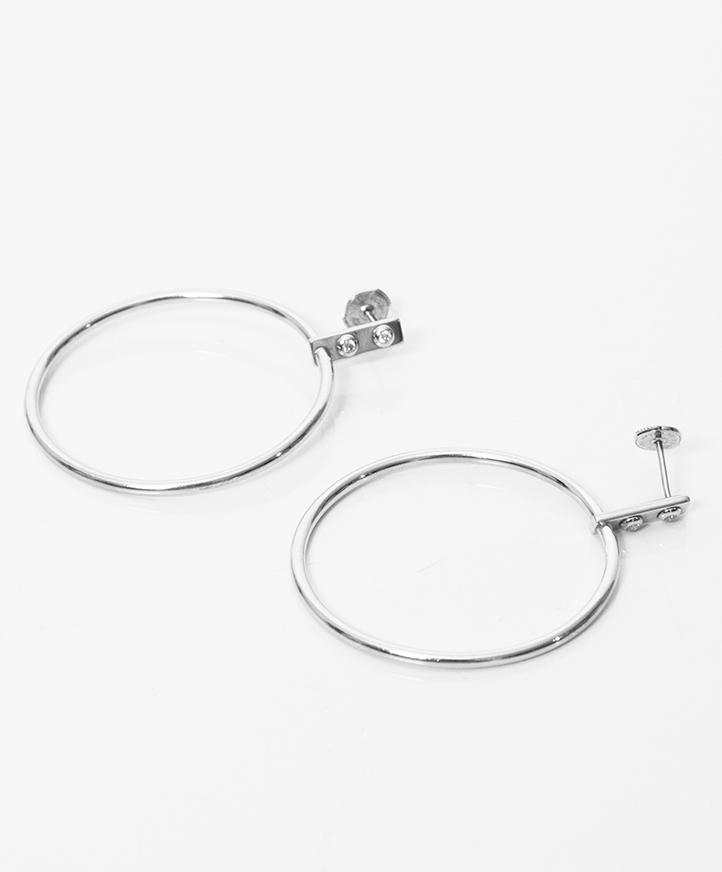 Authentieke tweedehands designer Louis Vuitton Creoles Clous Earrings vintage factuur veilig online winkelen juiste prijs labellov webwinkel mode Antwerpen België