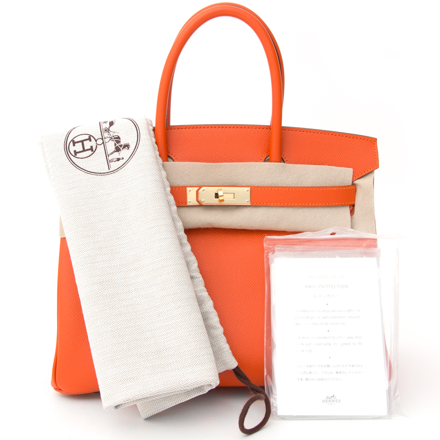 feebcf9249ec ... acheter en ligne seconde main sac a main Brand New Hermes Birkin 30  Epson Feu GHW