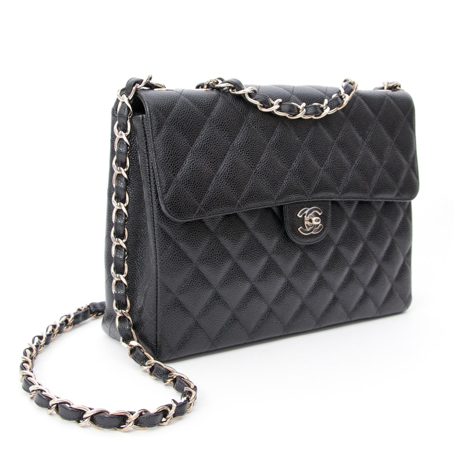 ... koop online aan de besete prijs tweedehands chanel single flap caviar  webshop labellov aa929021f046