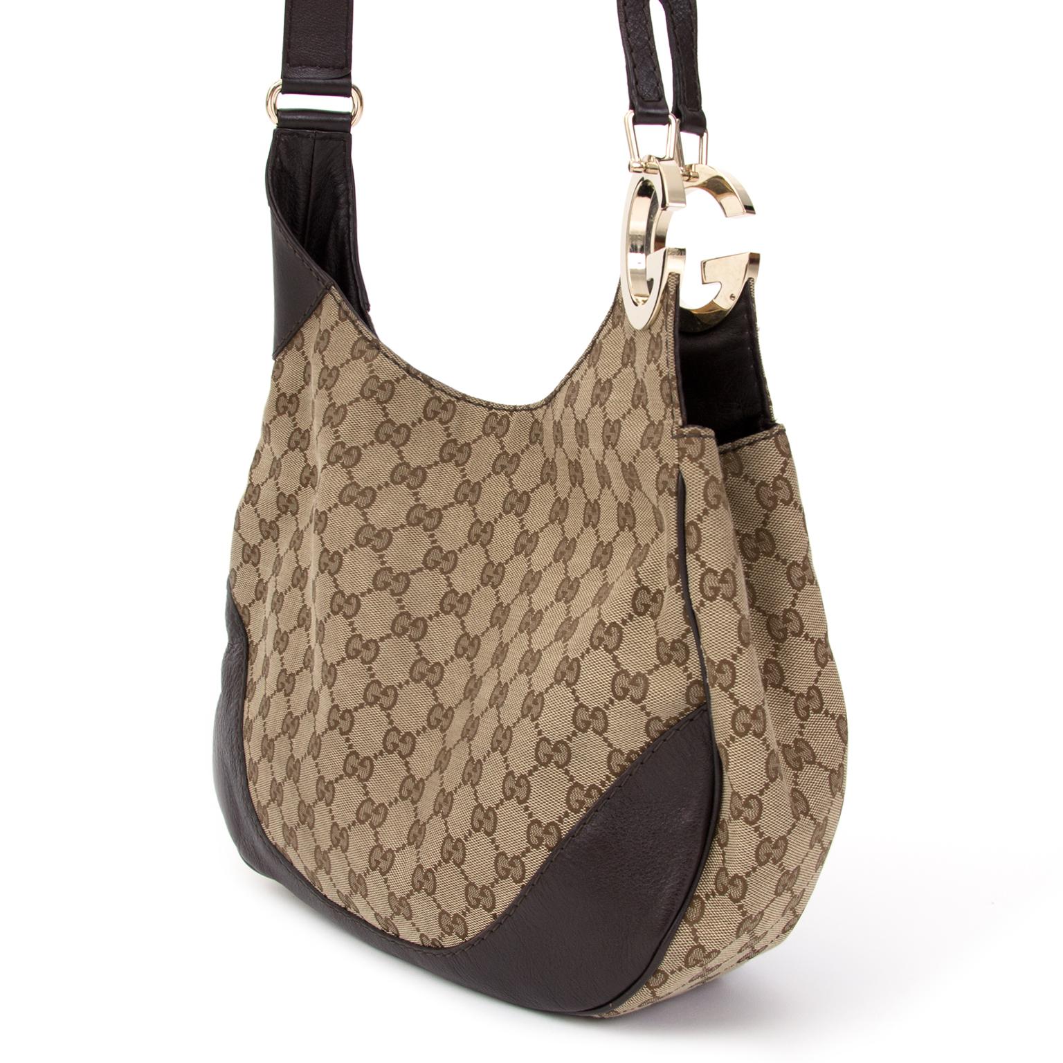 3c14dedb7e11 ... shop safe online secondhand designer bag Gucci Monogram Hobo Bag