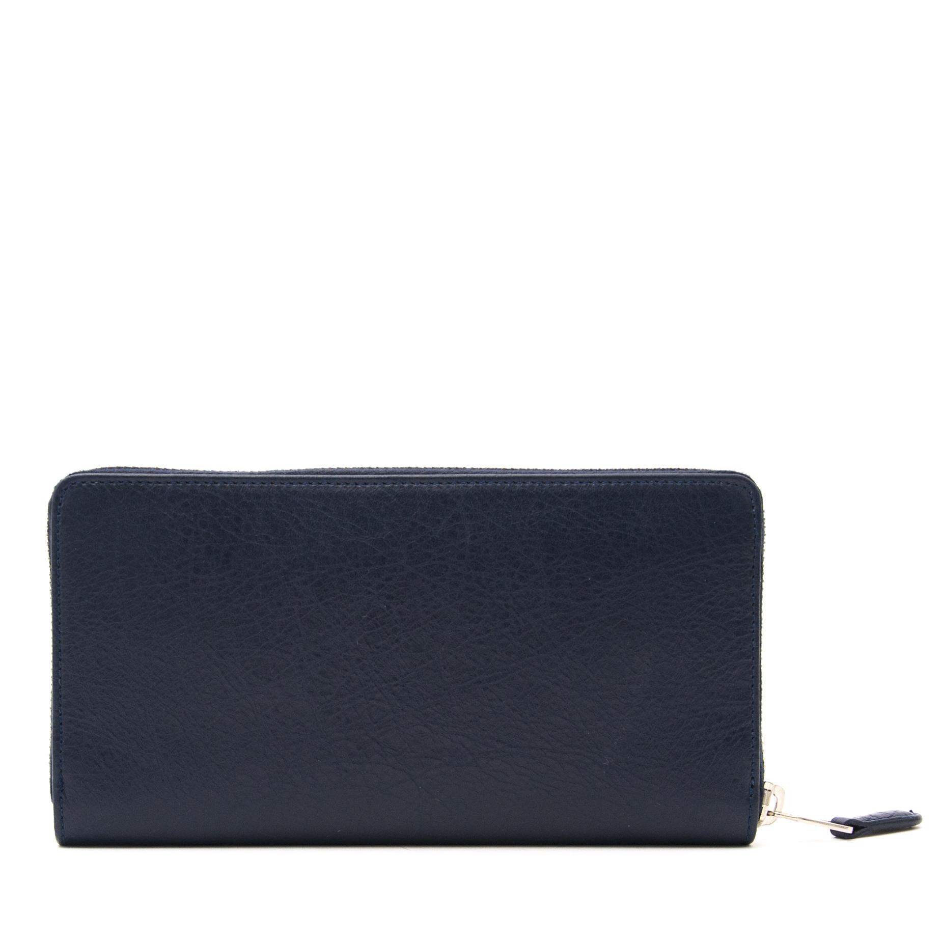 acheter en ligne pour le meilleur prix Balenciaga Dark Blue  Giant Silver Money Wallet