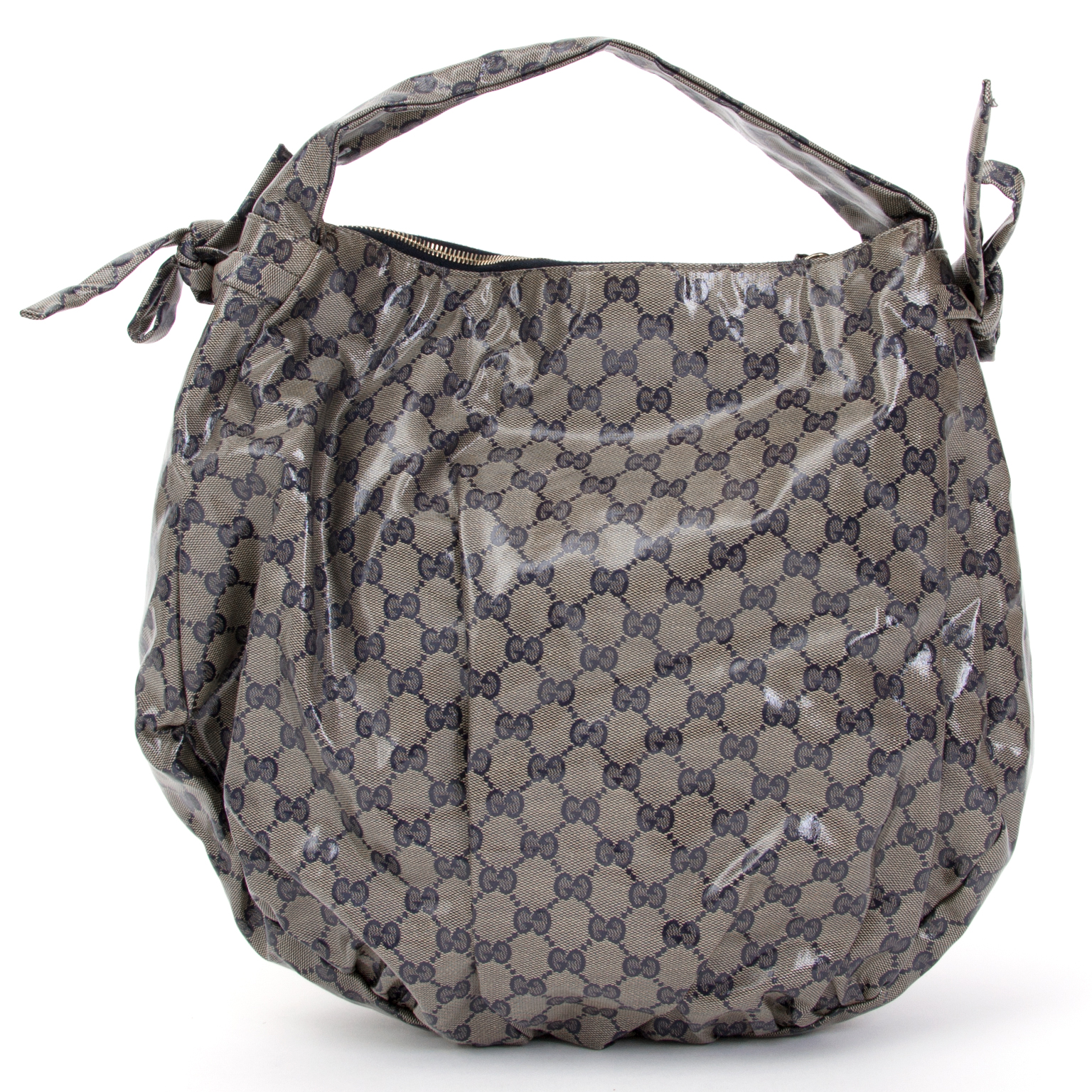 a52fb6c6b24 ... buy safe online second hand designer Gucci Hysteria Gg Coated Canvas  Hobo Bag
