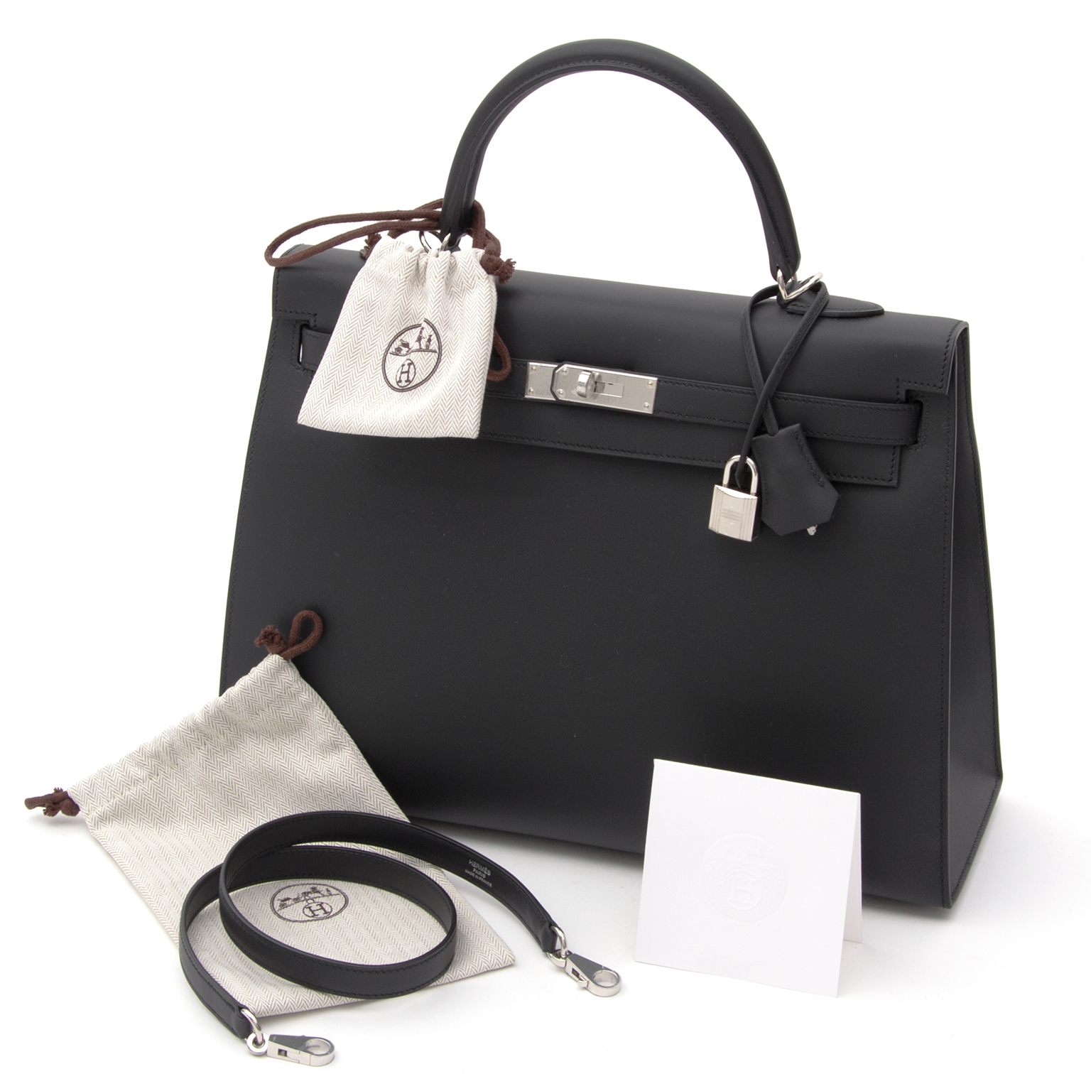 941f19a9fe ... promo code buy authentic secondhand hermès this brand new and hermès  kelly bag in matte black