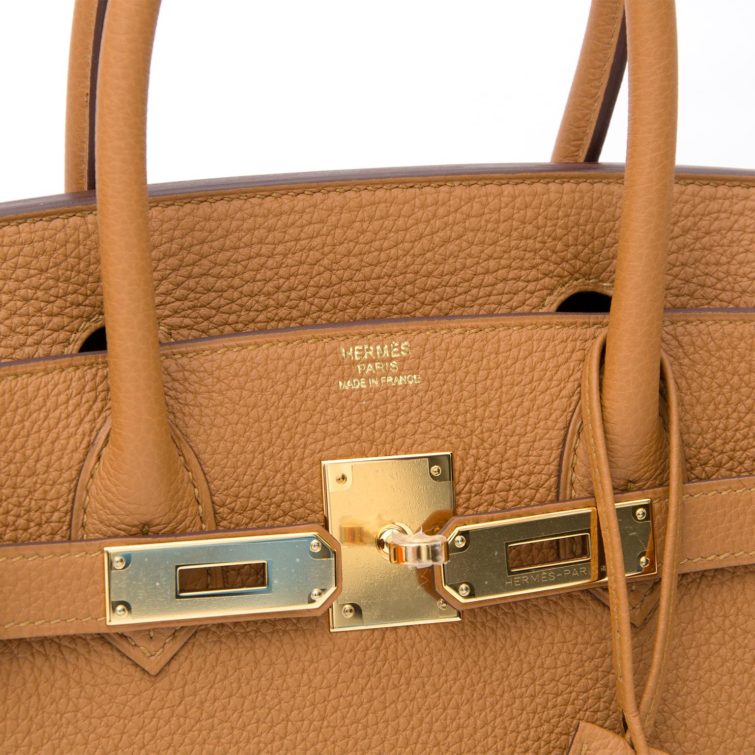 69335600a5 ... BRAND NEW Hermès Birkin Caramel Togo GHW 30 cuir seconde main occasion  sac en ligne prix