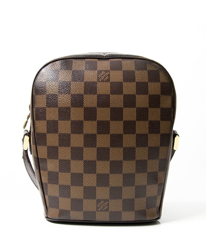 67178a540398 Shop authentic second hand vintage designer Louis Vuitton Damier Canvas  Ipanema PM Shoulder Bag in dark brown hue comes in original dustbag
