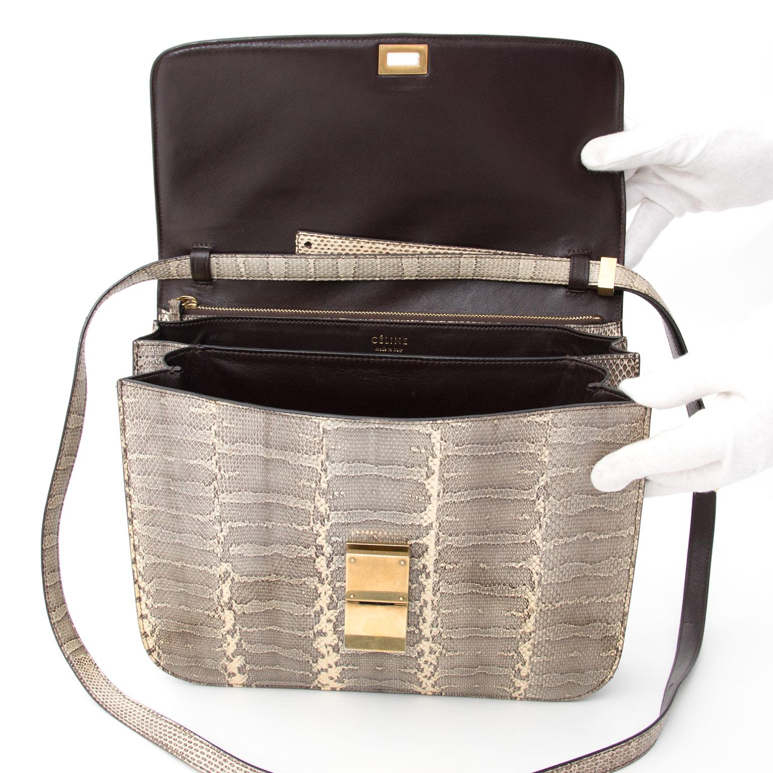 Céline Classic Ayers Large Flap Bag Vanilla secodne main designer vintage sac a main epaule en cuir