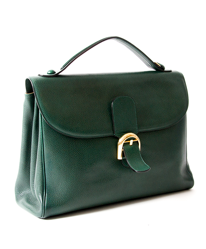 af63b997ec ... labellov Buy Delvaux Belgian briefcase in forest green with gold clasp  for the best price
