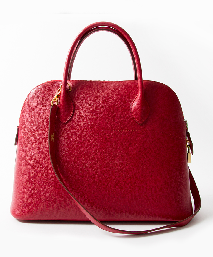 buy safe online second hand Hermes bolide rouge vif best price secondhand designer bags