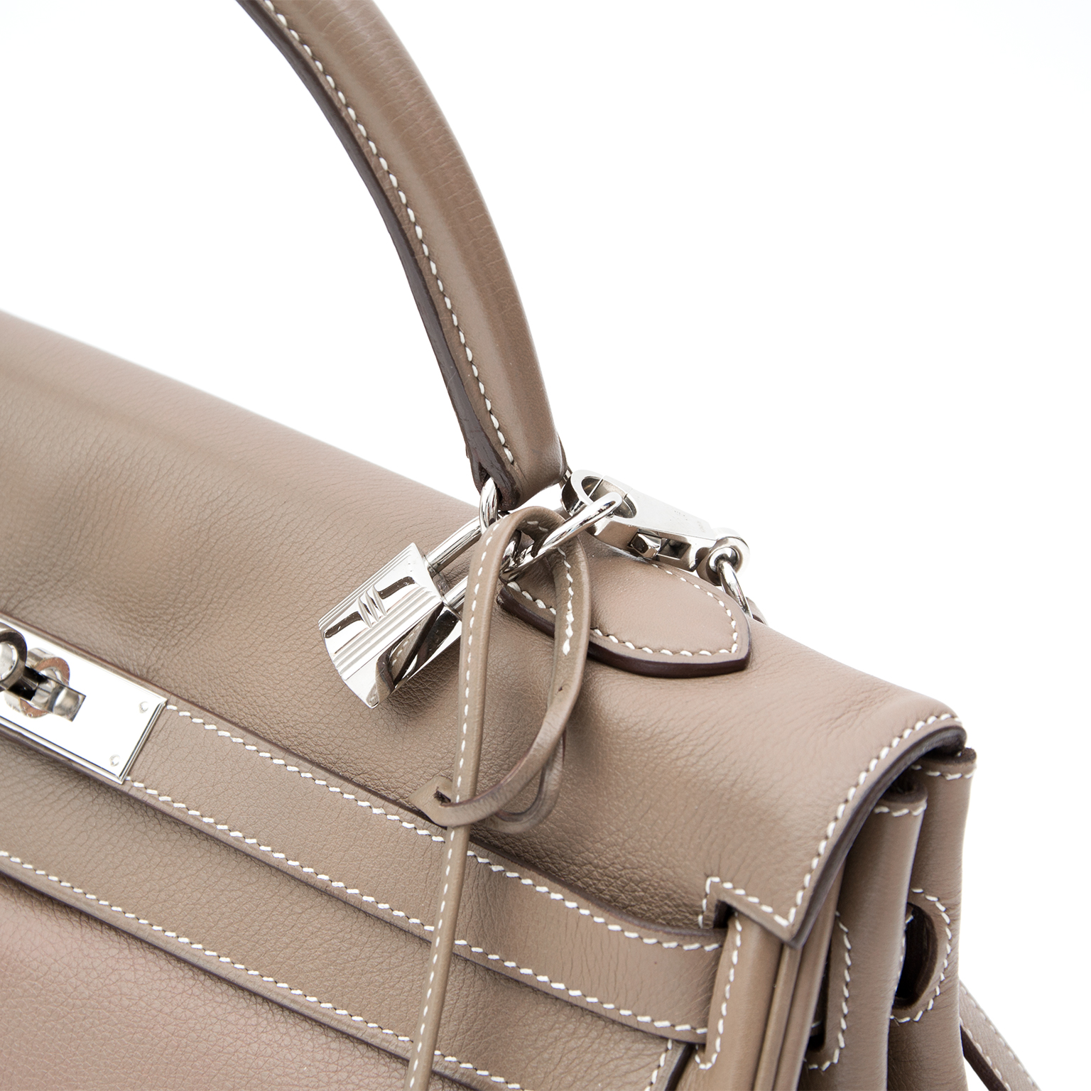shop safe online second hand designer Hermes Kelly etoupe 35 phw like new best price luxury secondhand