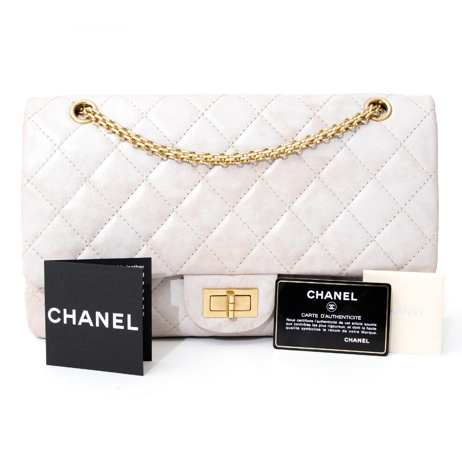 koop veilig online tweedehands Chanel SS11 Act I Blanc Foncé Calfskin Reissue 227 with GHW