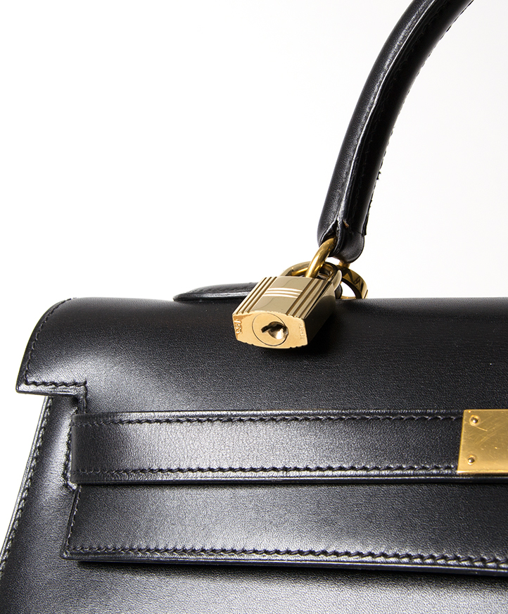 2827f25f4064 ... Hermès Black Kelly Bag secondhand authentic designer luxury bags  high-end labels online safe shopping