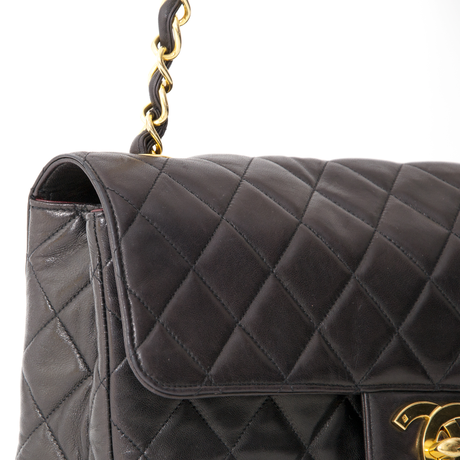 ... vintage chanel secondhand classic flap in lambs leather perfect  condition 239e905d2fe50
